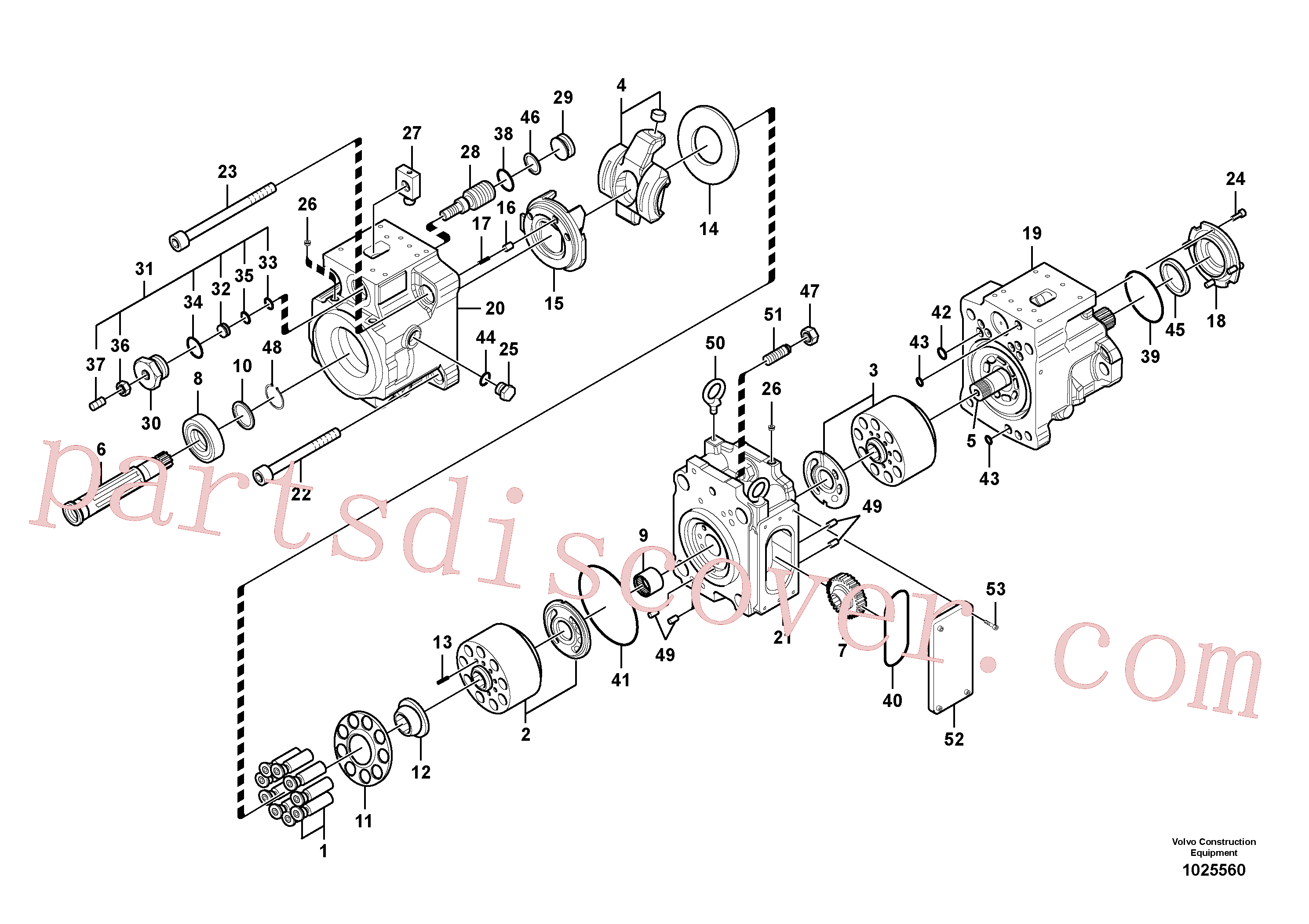 VOE14567600 for Volvo Hydraulic pump(1025560 assembly)