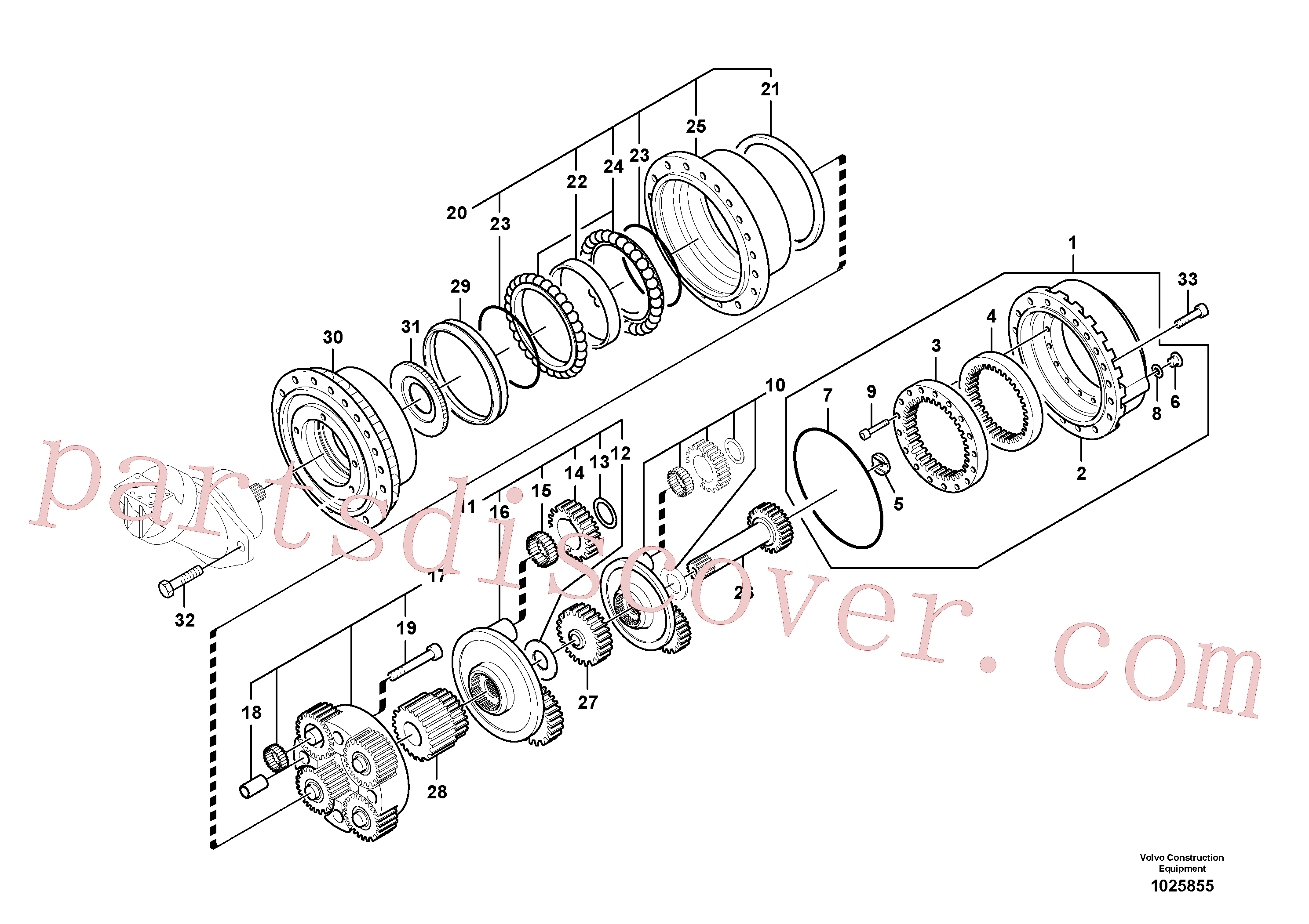 VOE14541740 for Volvo Travel gearbox(1025855 assembly)