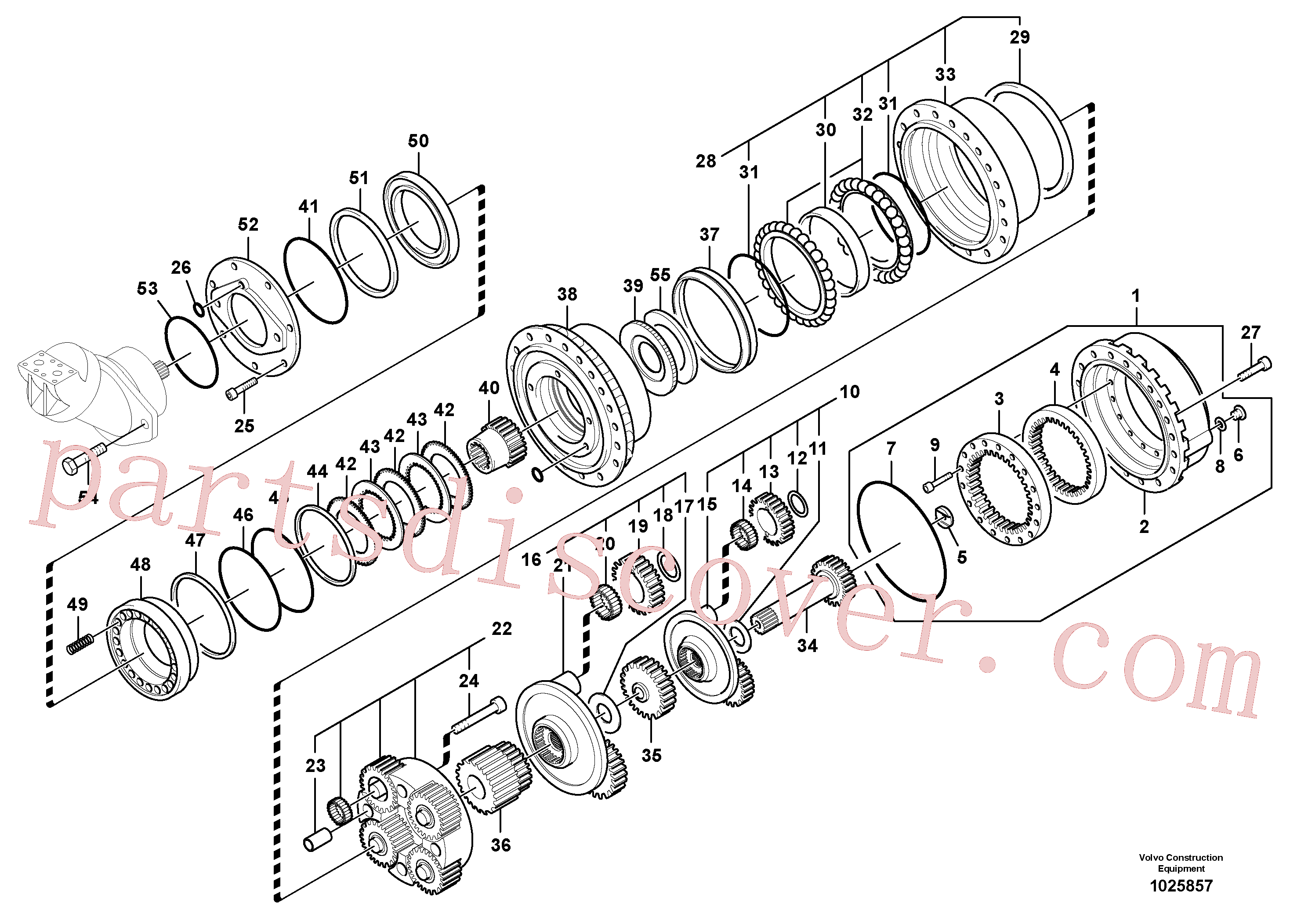 SA8230-22380 for Volvo Travel gearbox(1025857 assembly)