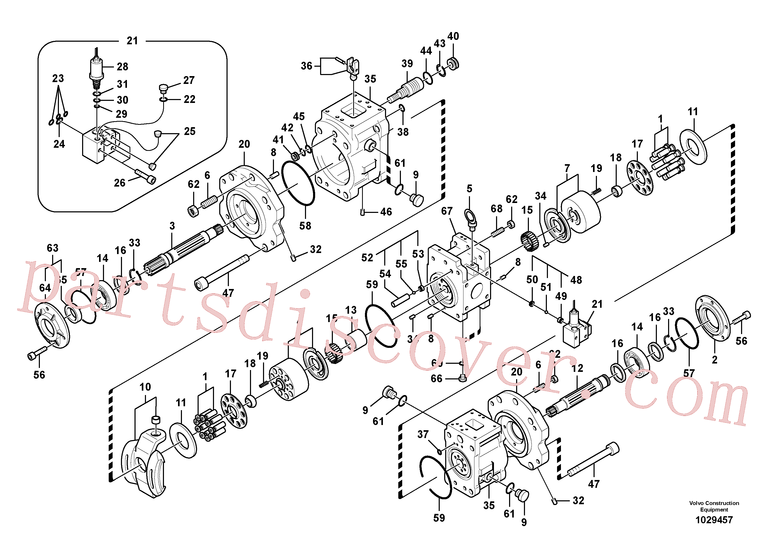 VOE14574287 for Volvo Hydraulic pump(1029457 assembly)
