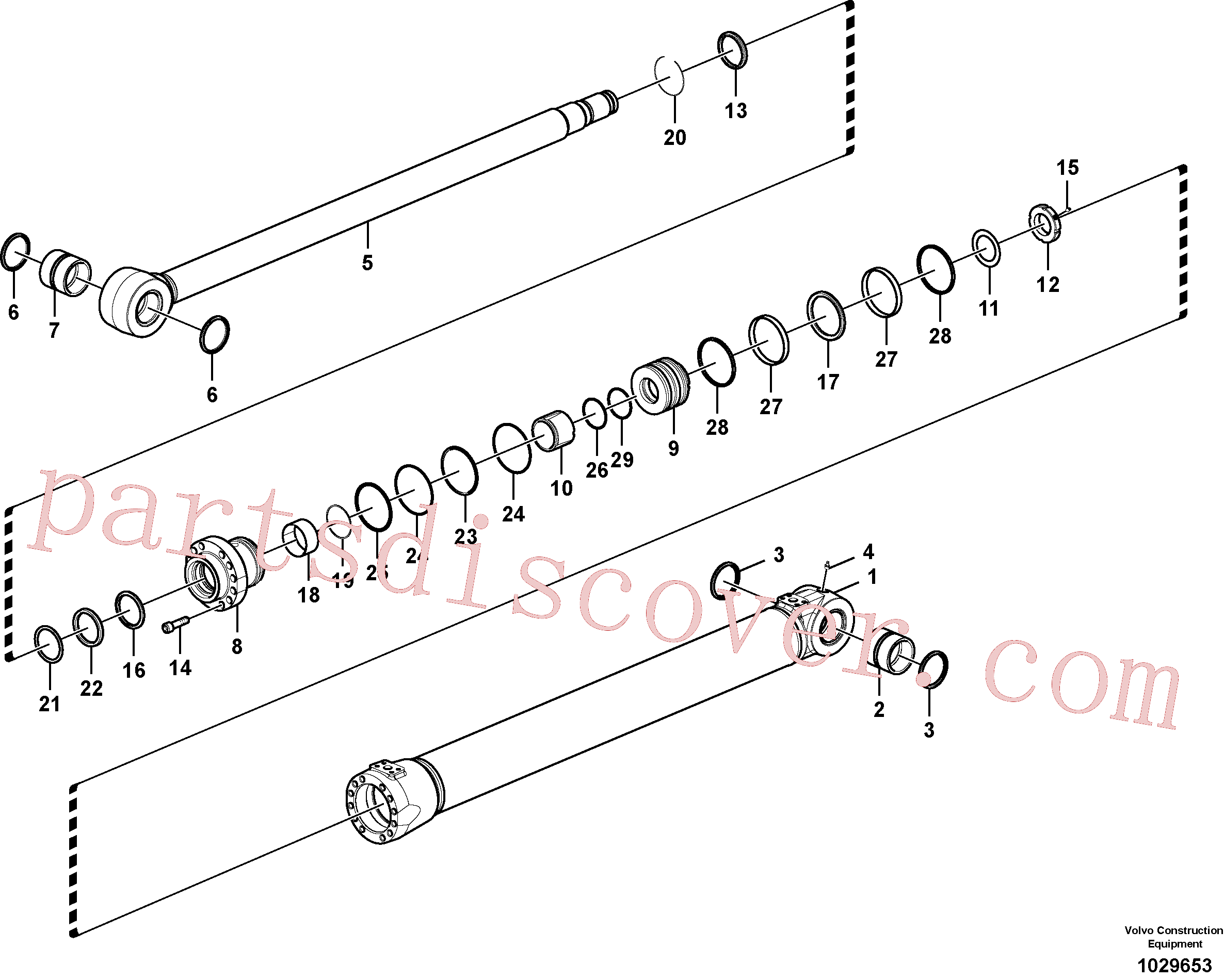 SA9563-20950 for Volvo Boom cylinder(1029653 assembly)