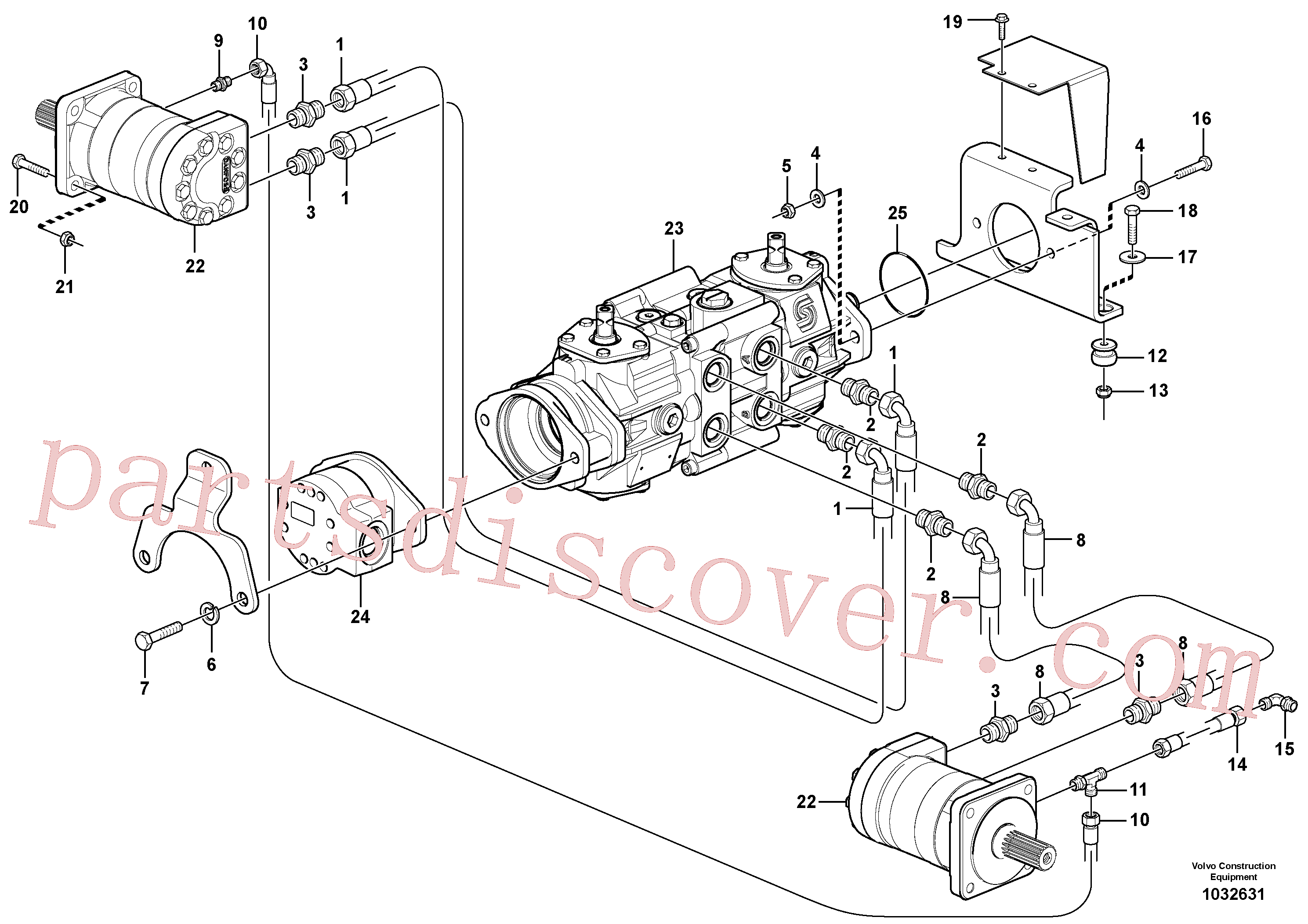 VOE11850571 for Volvo Hydraulic system Transport(1032631 assembly)