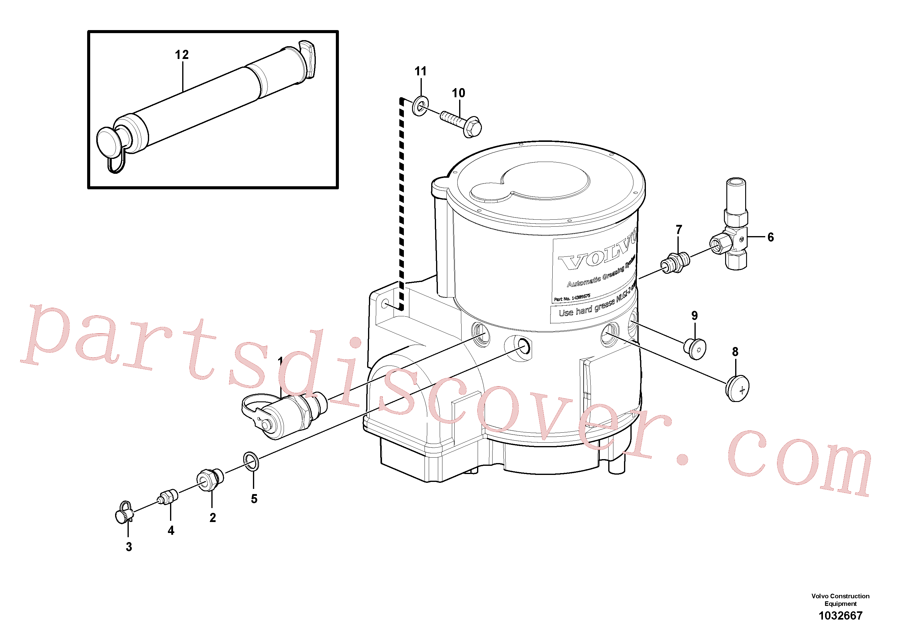 VOE983243 for Volvo Pump with fitting parts(1032667 assembly)