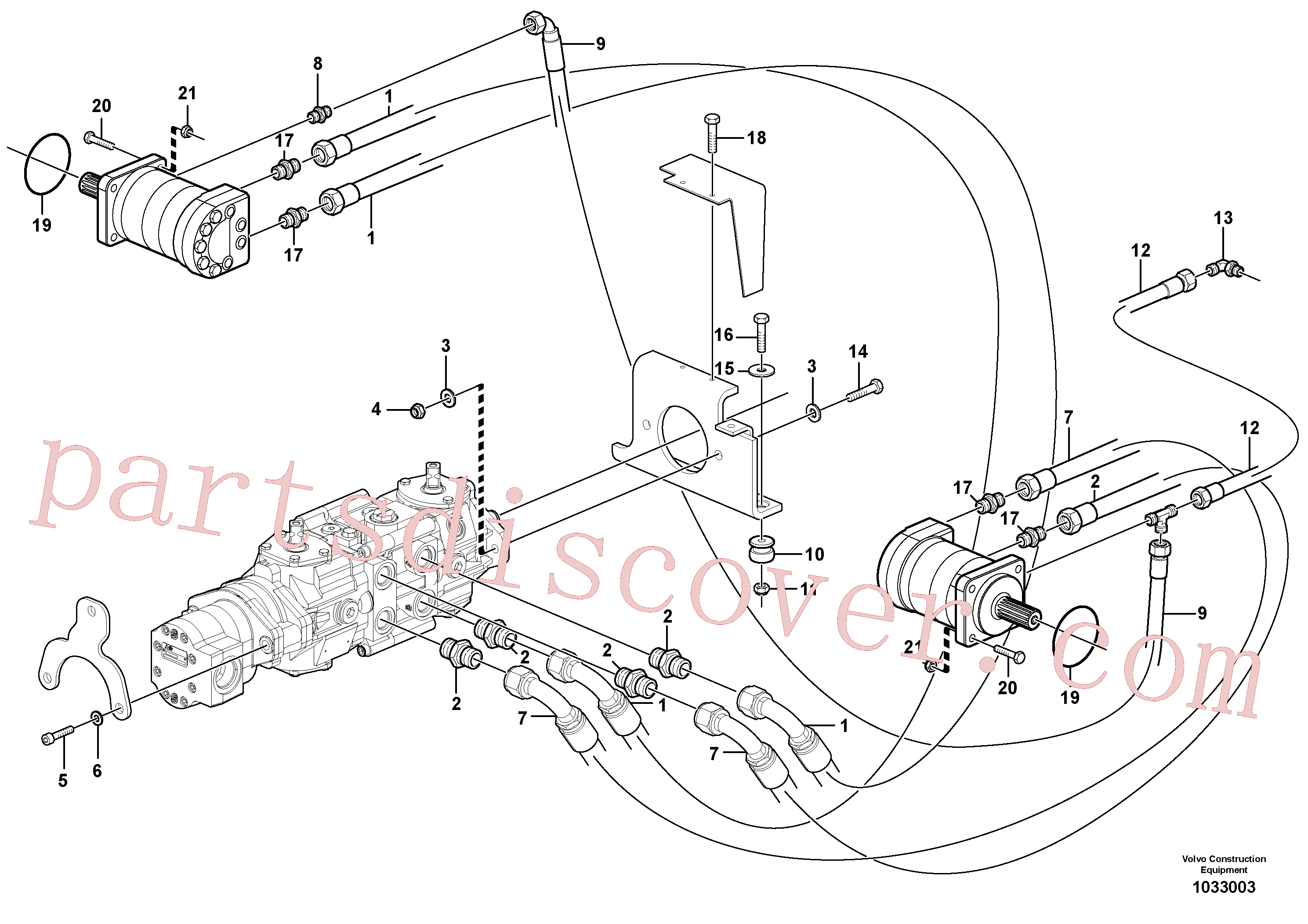 VOE11850571 for Volvo Hydraulic system Transport(1033003 assembly)