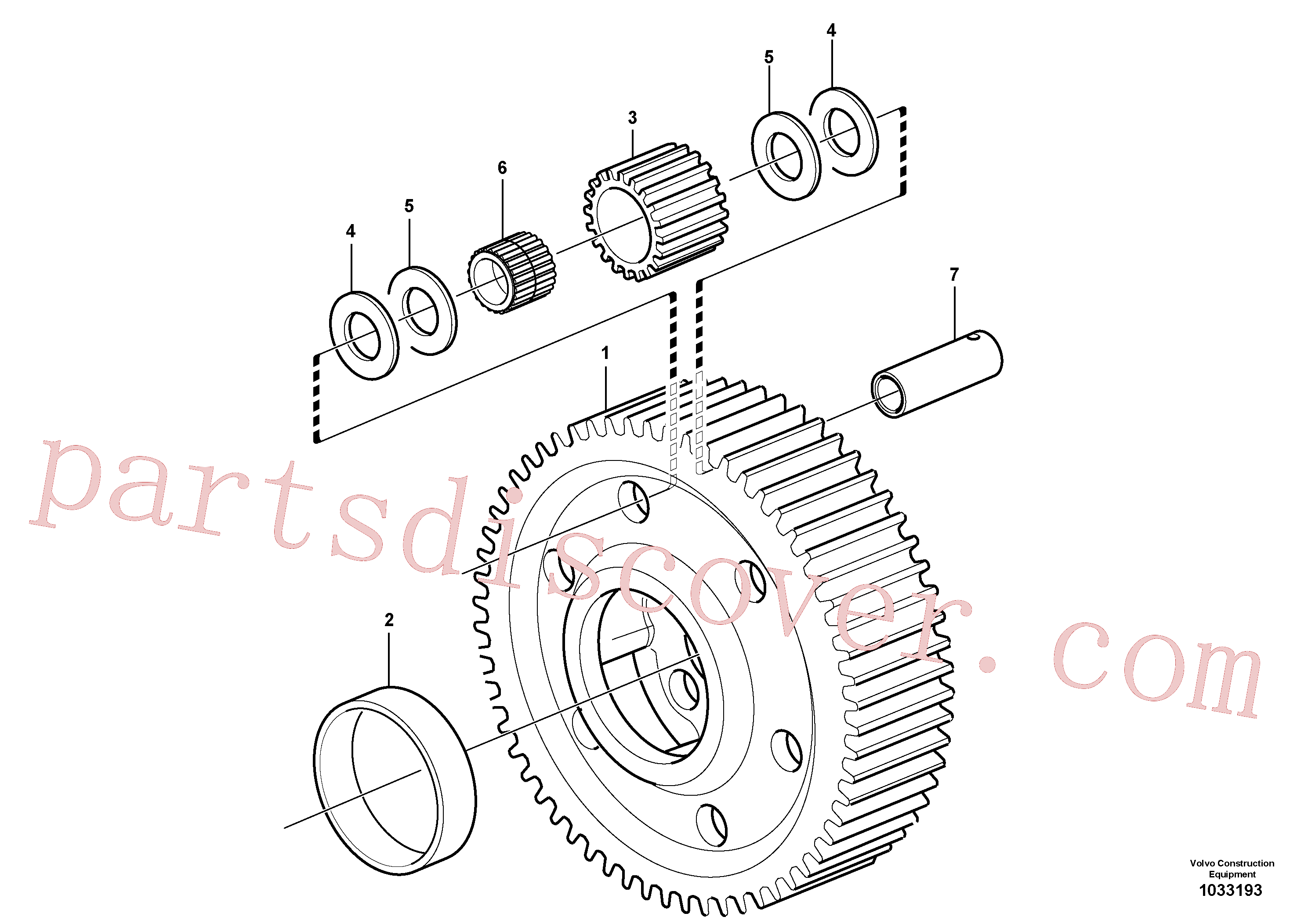 VOE11036897 for Volvo Planet kit, stage 5(1033193 assembly)