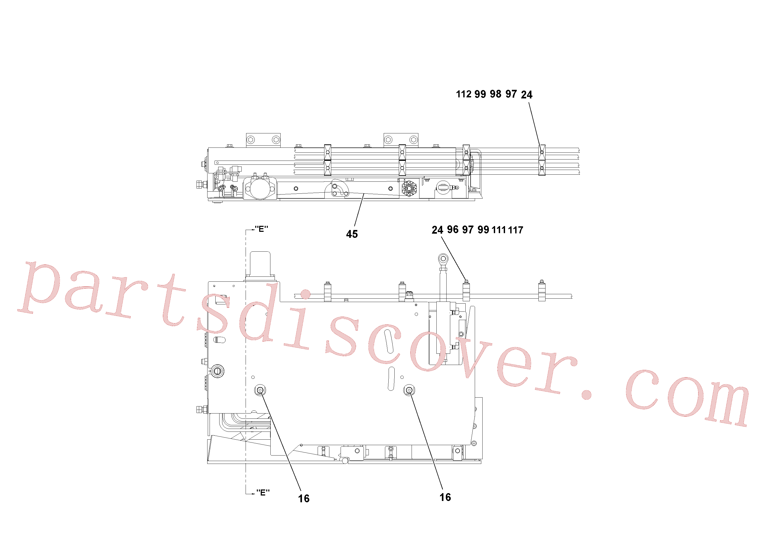 RM20188629 for Volvo 4' Extension Assembly(1036868 assembly)