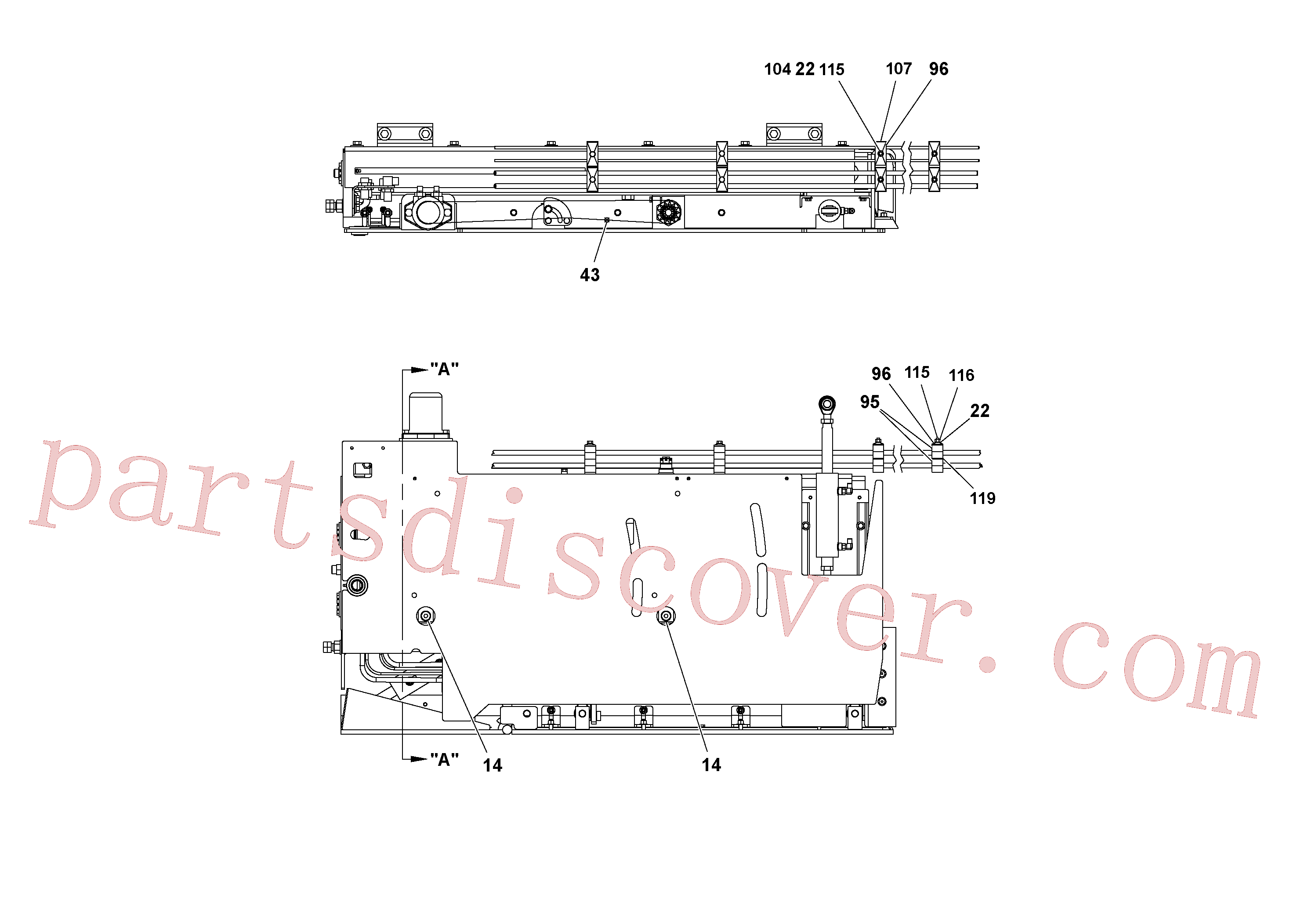 RM20188629 for Volvo 5' Extension Assembly(1036983 assembly)