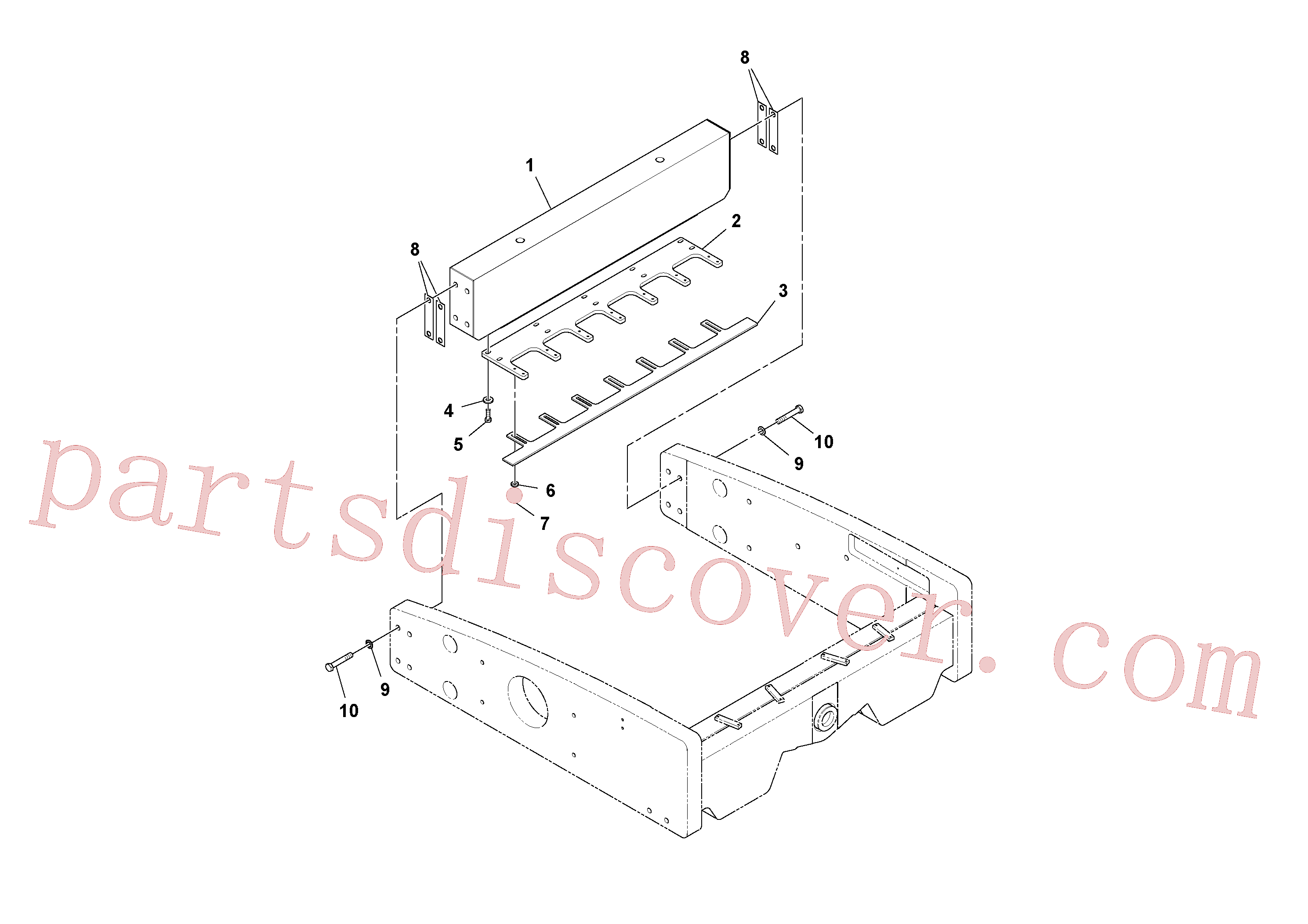RM96719513 for Volvo Scraper Installation(1037860 assembly)