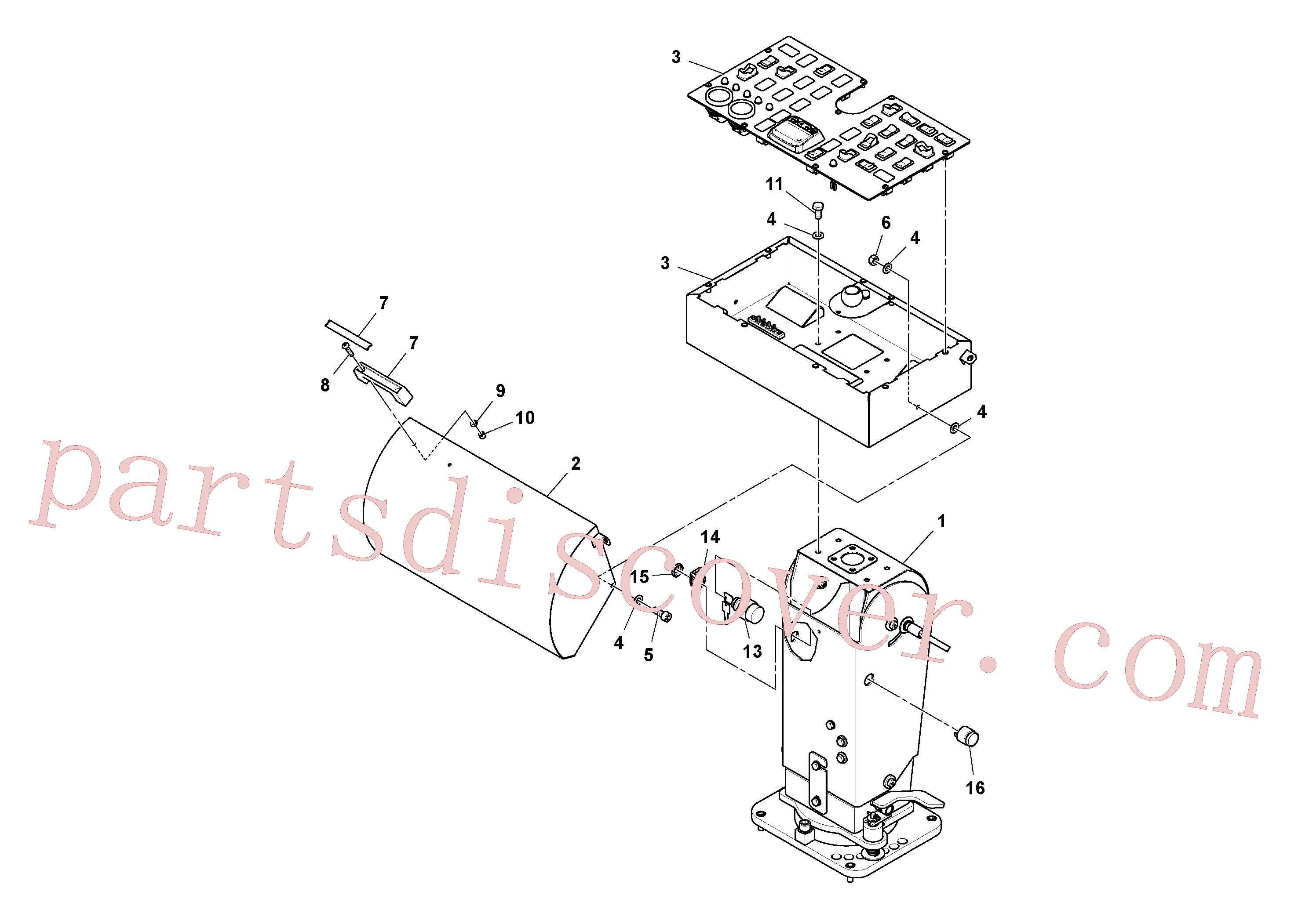 RM96705009 for Volvo Track Console Installation(1038768 assembly)