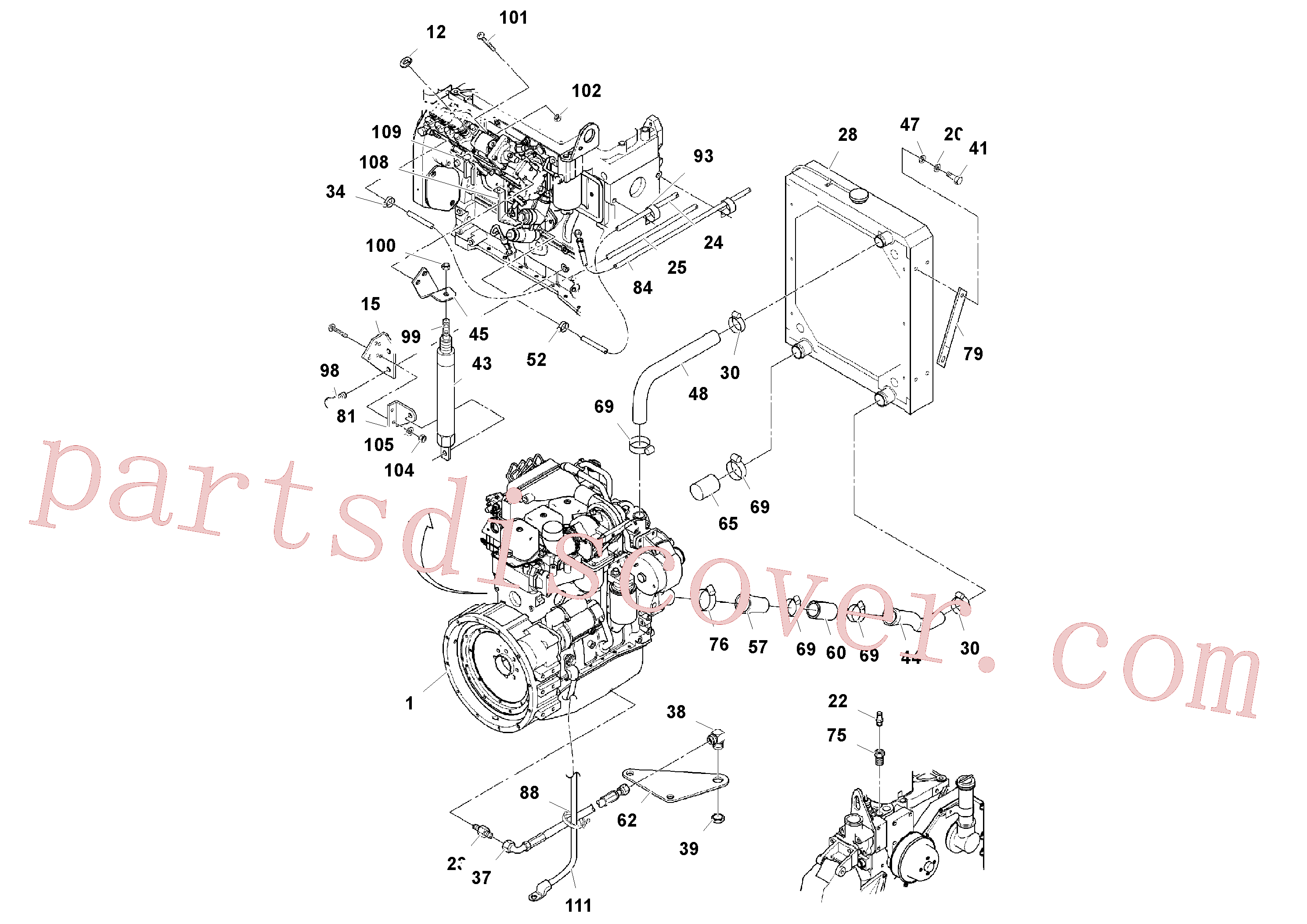 RM20922365 for Volvo Cummins Engine Assembly(1039168 assembly)