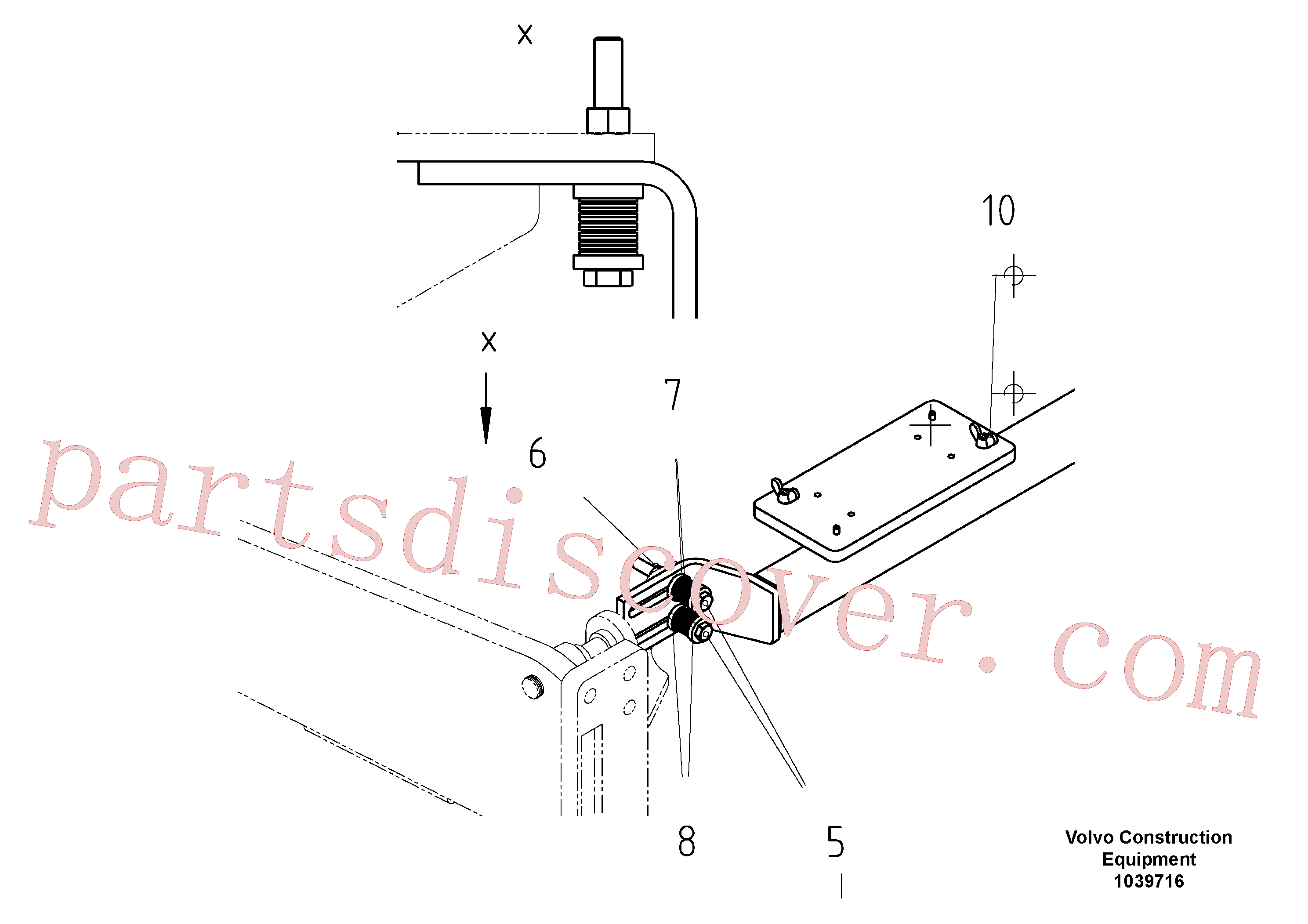 RM96721527 for Volvo Support For Slope Control(1039716 assembly)