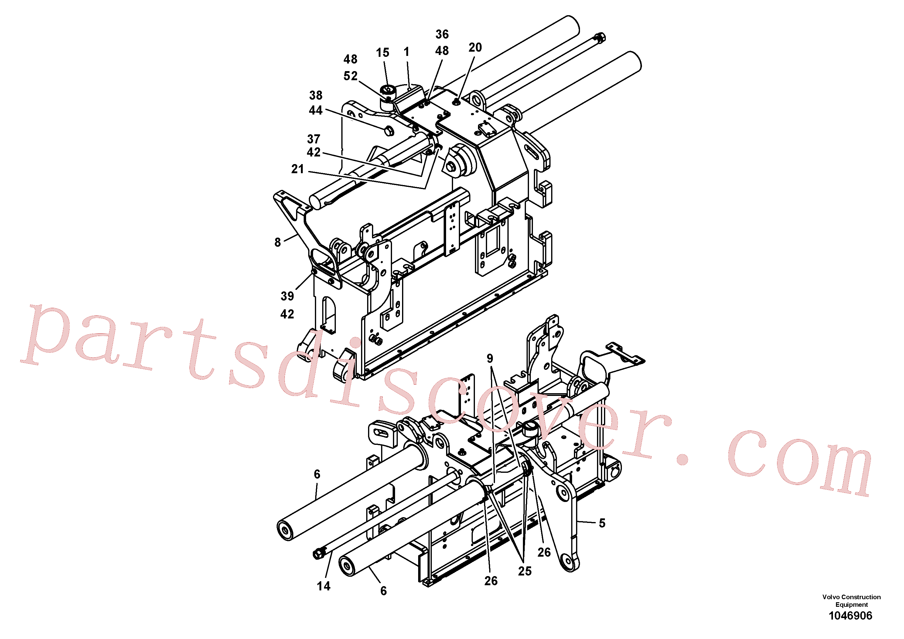 RM14261002 for Volvo Screed guide for basic screed(1046906 assembly)