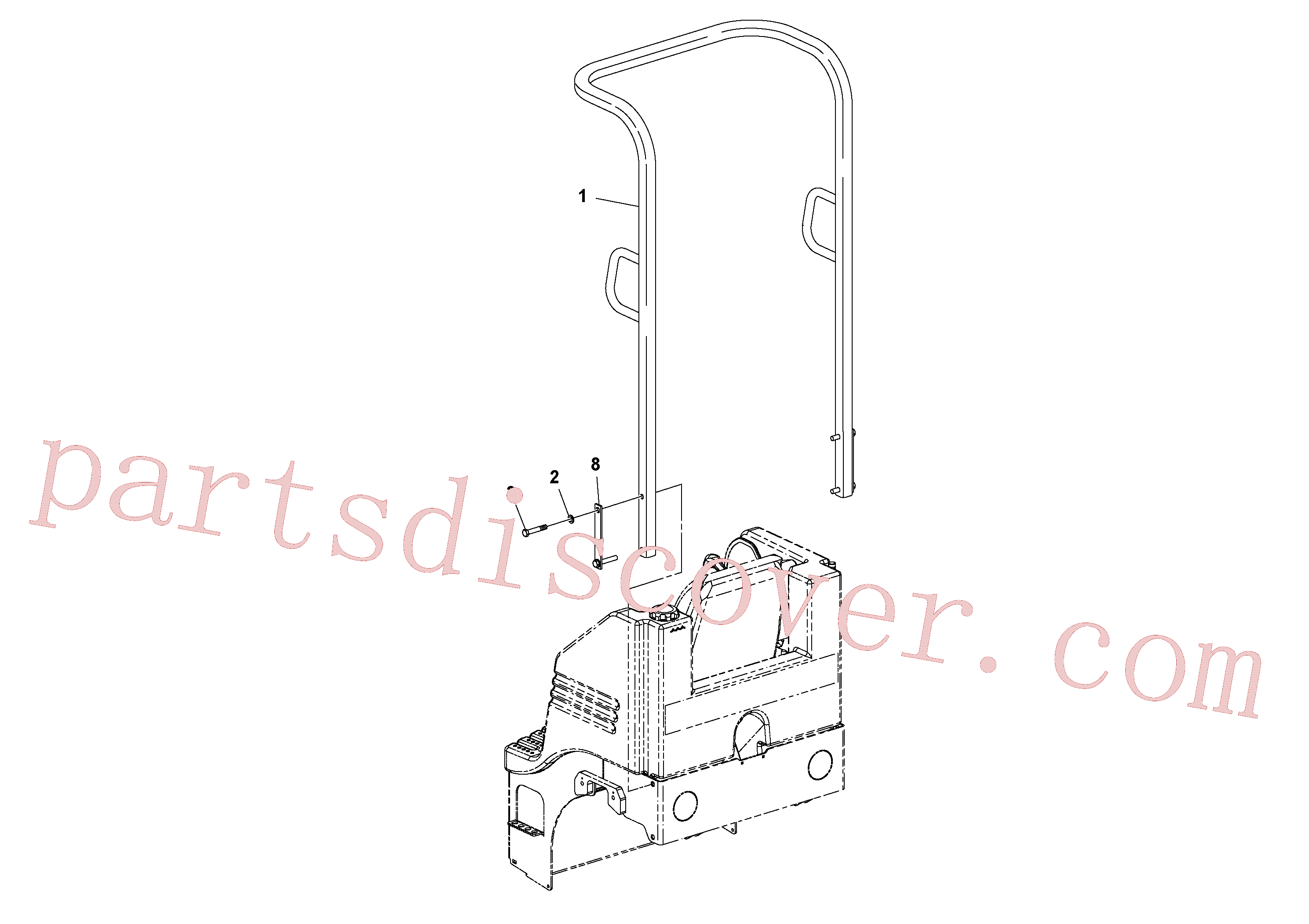 RM96738612 for Volvo ROPS Installation(1049191 assembly)