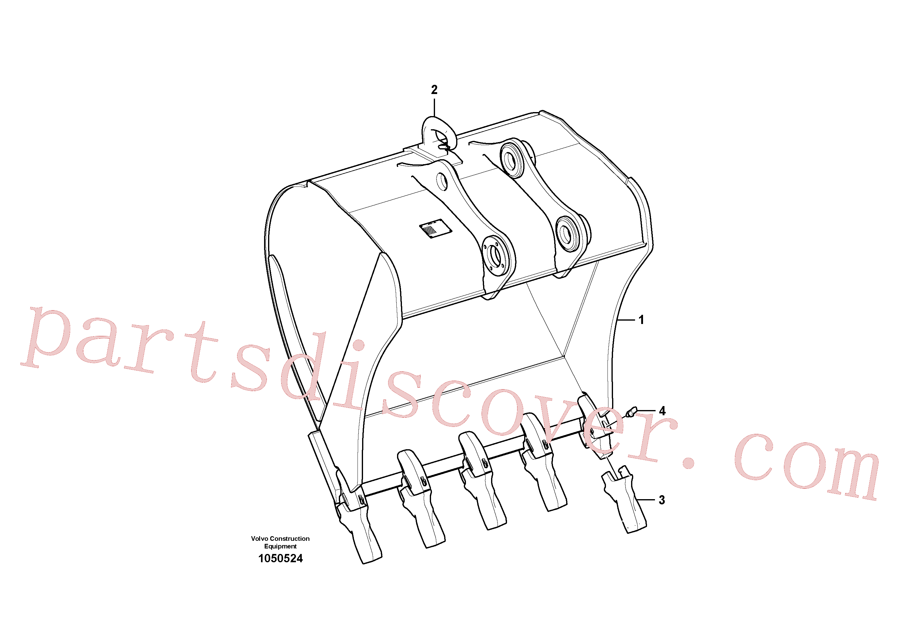 VOE14523553 for Volvo Bucket(1050524 assembly)