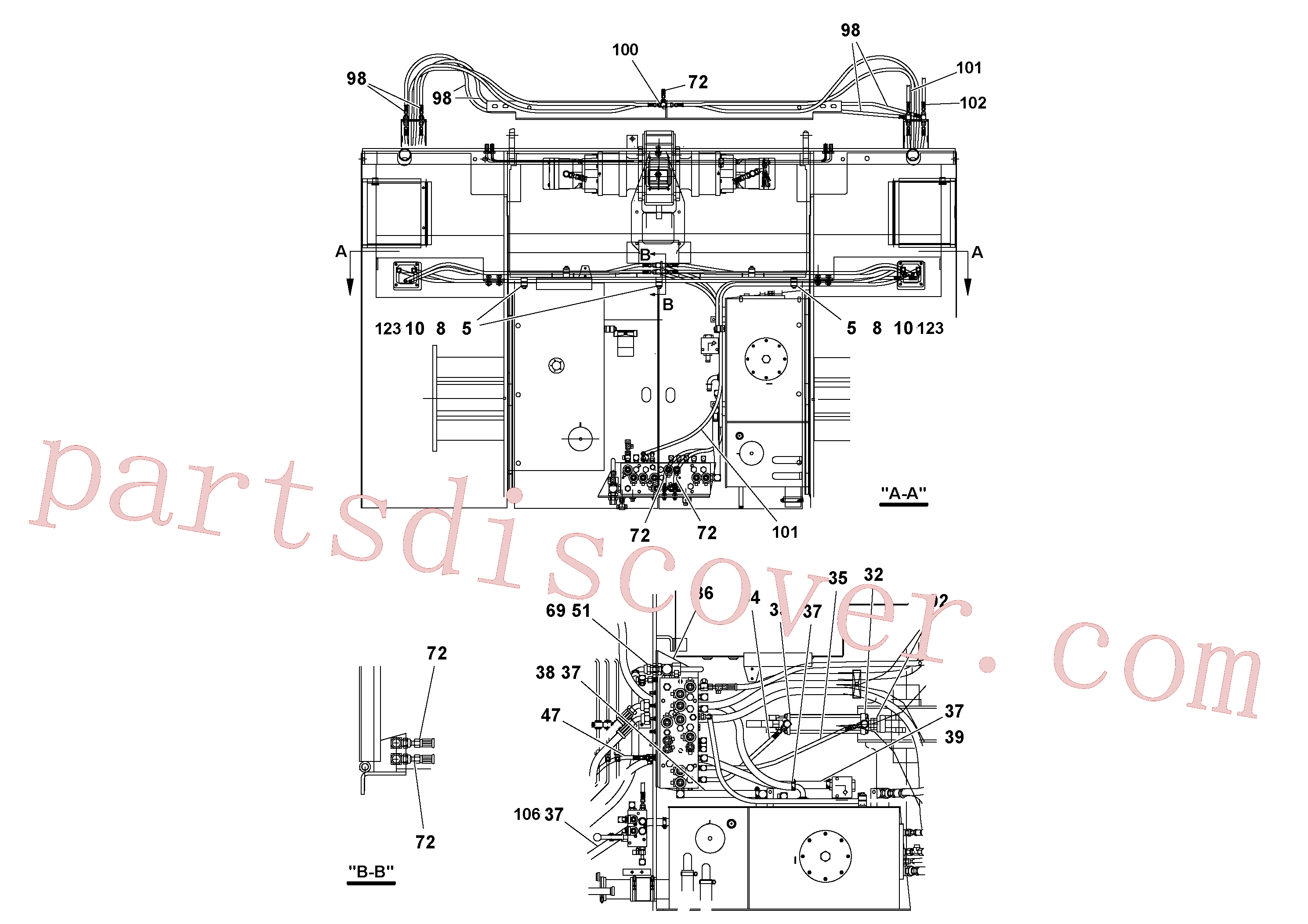 RM20188629 for Volvo Hydraulic installation(1052142 assembly)