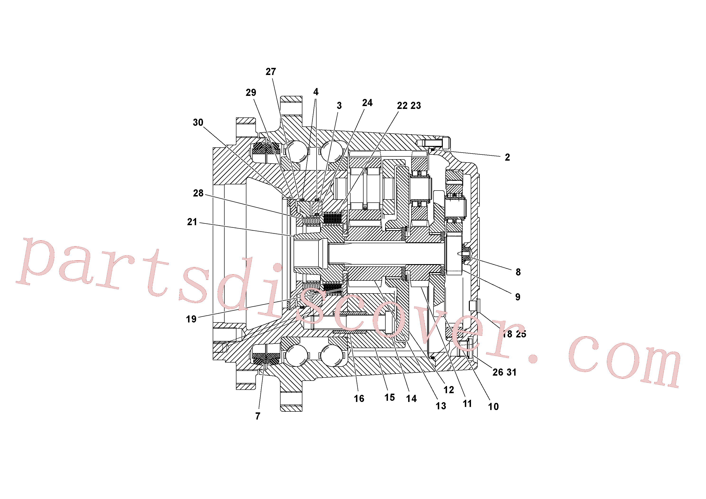 RM70921085 for Volvo Traction Drive Planetary Assembly(1053171 assembly)