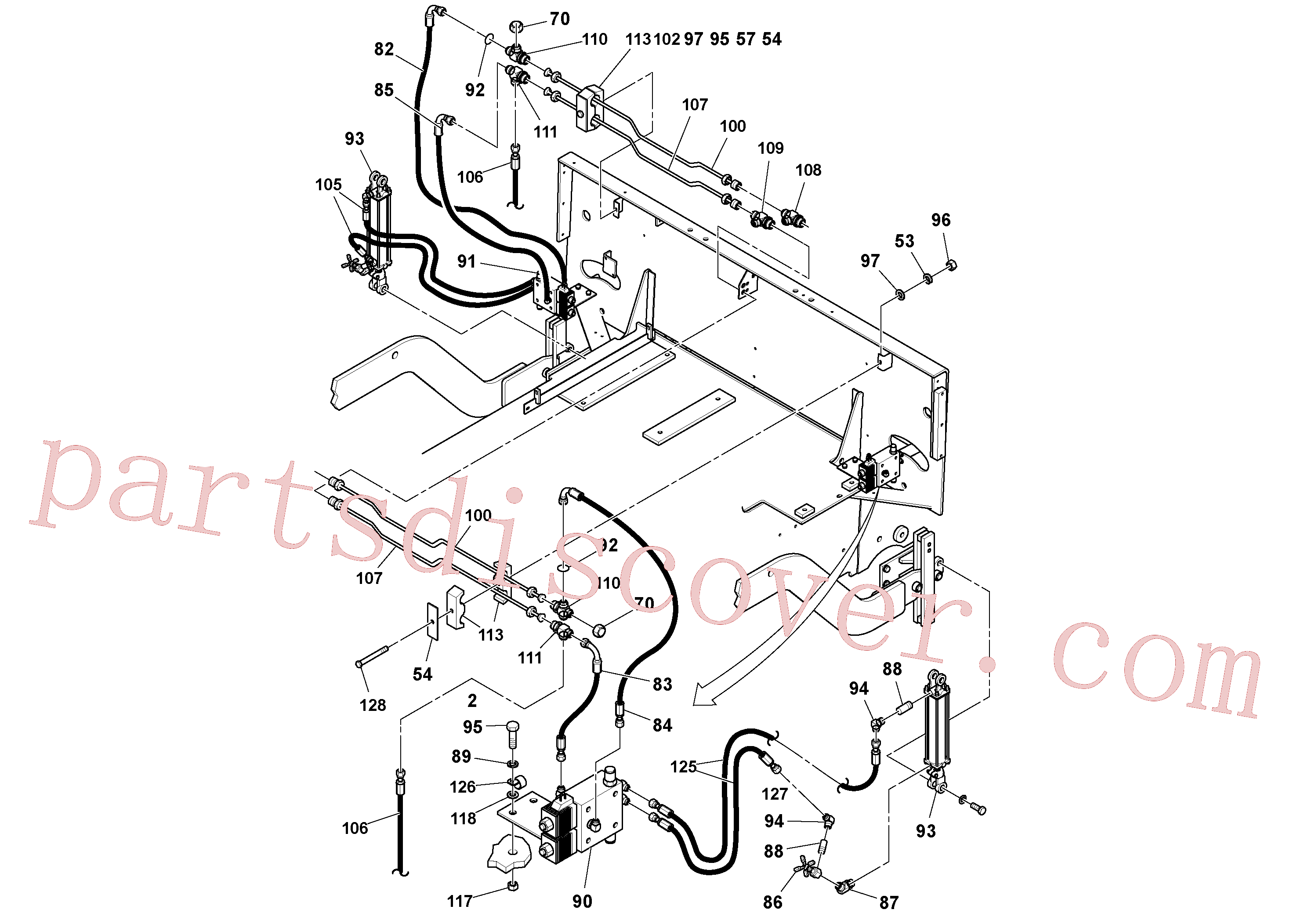 RM20188629 for Volvo General Purpose Hydraulic System(1053342 assembly)
