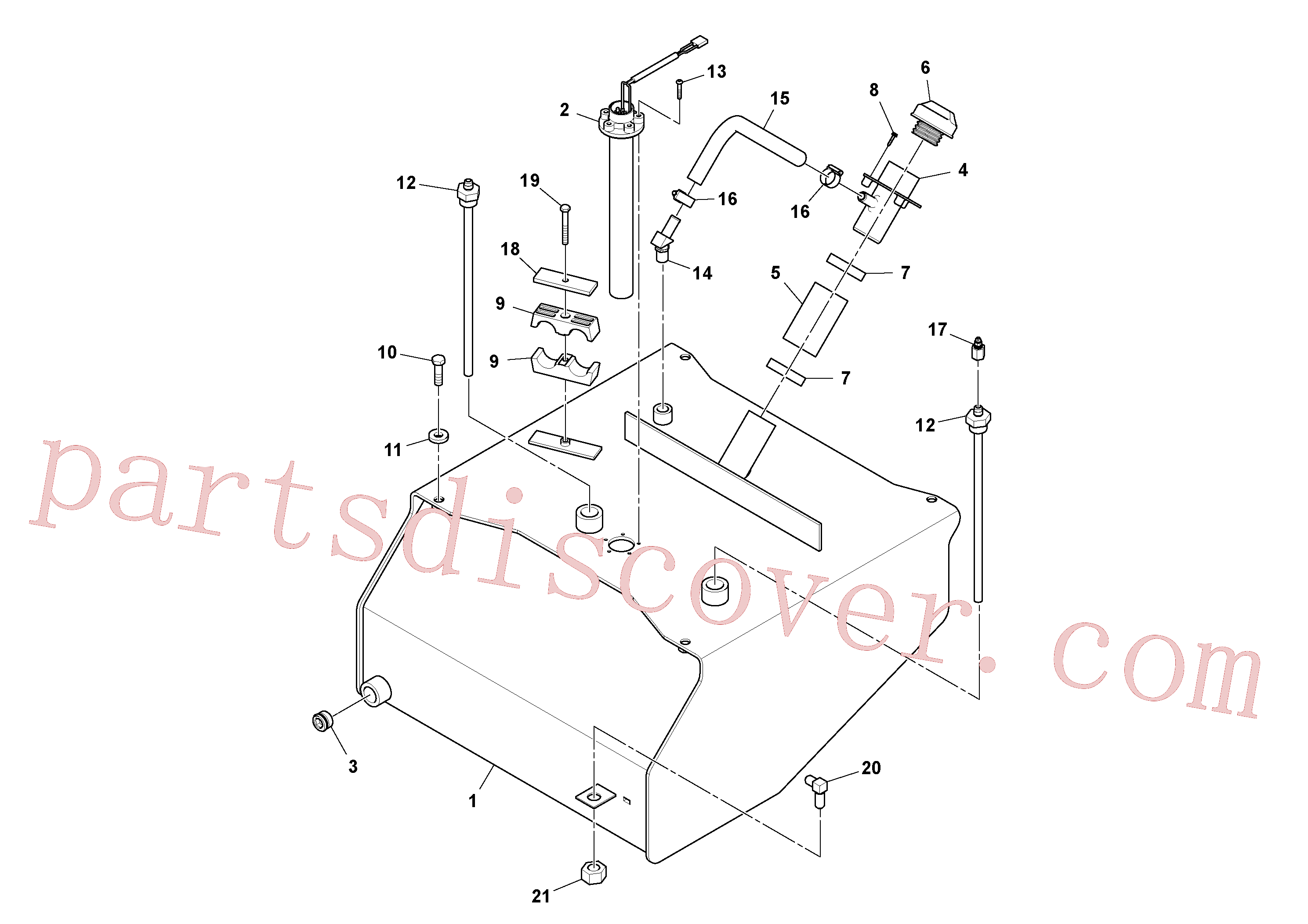 RM95920716 for Volvo Fuel Tank Assembly(1054349 assembly)