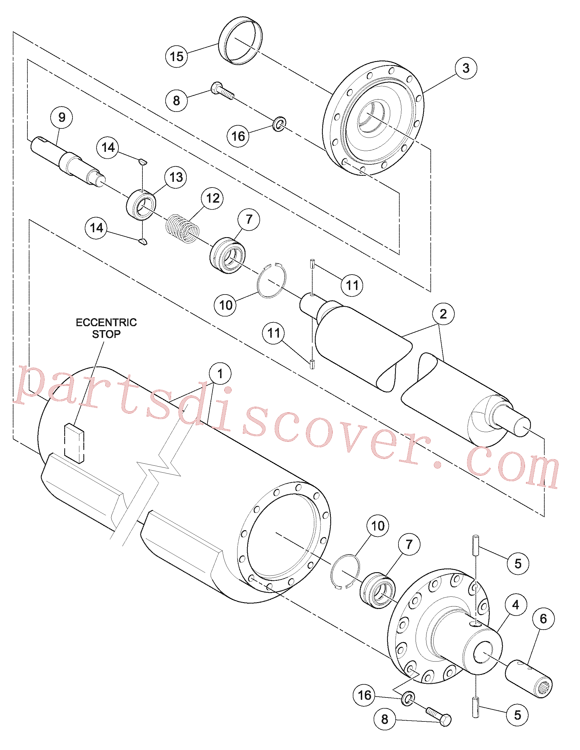 RM96701487 for Volvo Eccentric Shaft Assembly(1056011 assembly)