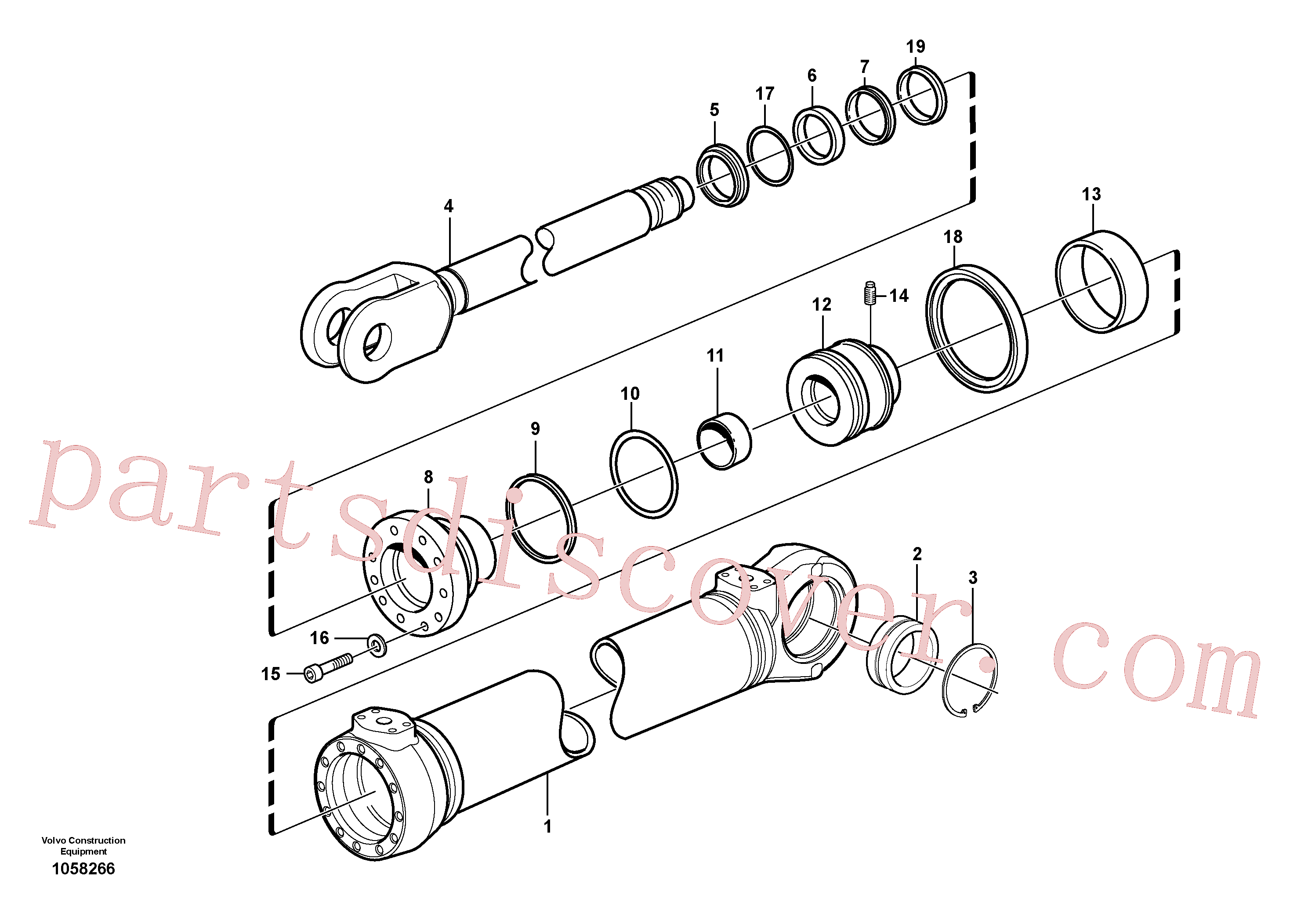 ZM2163560 for Volvo Hydraulic cylinder(1058266 assembly)