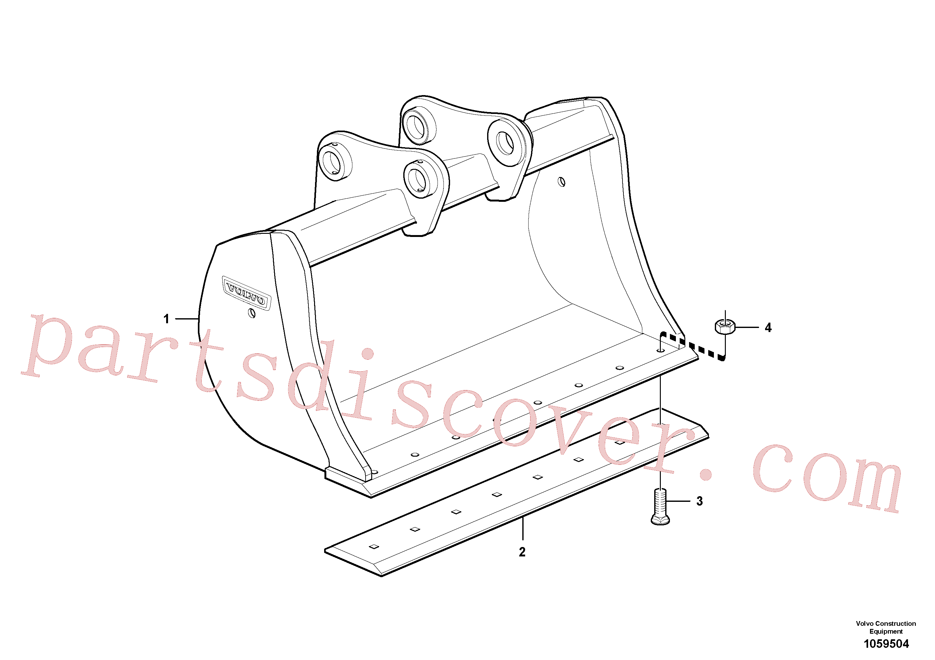 VOE14562931 for Volvo Bucket(1059504 assembly)