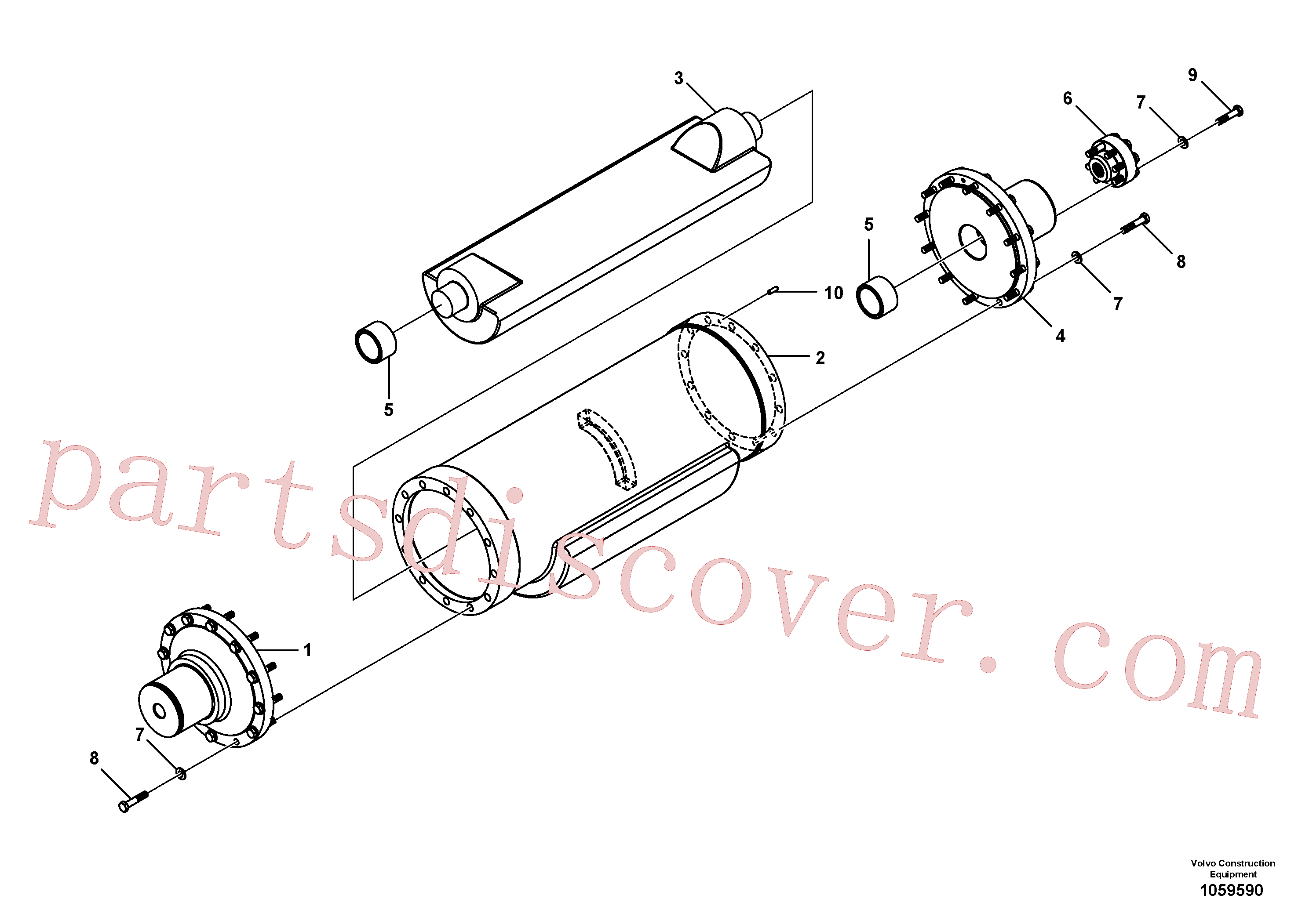 RM96720990 for Volvo Eccentric Shaft Assembly(1059590 assembly)