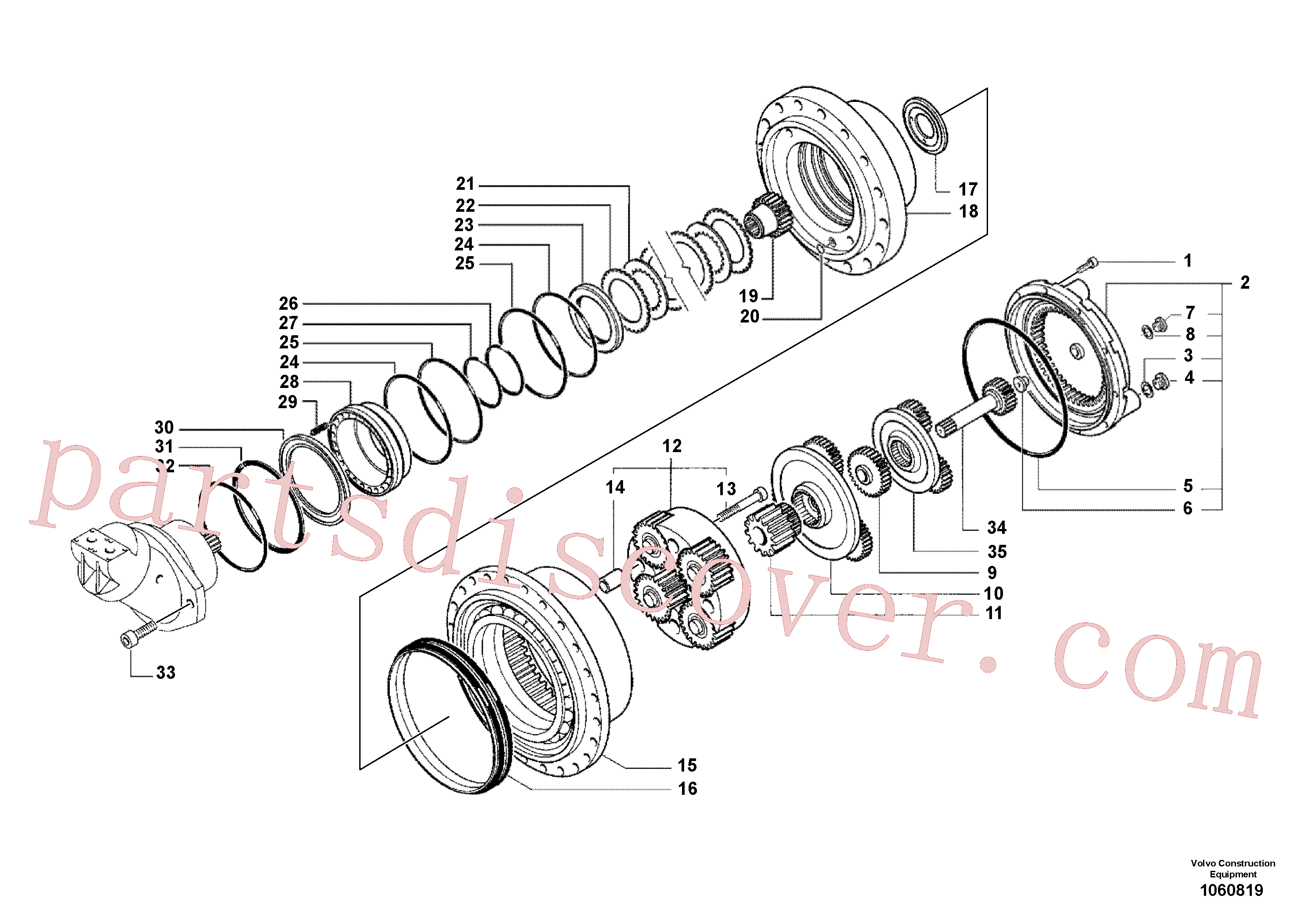 RM70921085 for Volvo Gearbox(1060819 assembly)