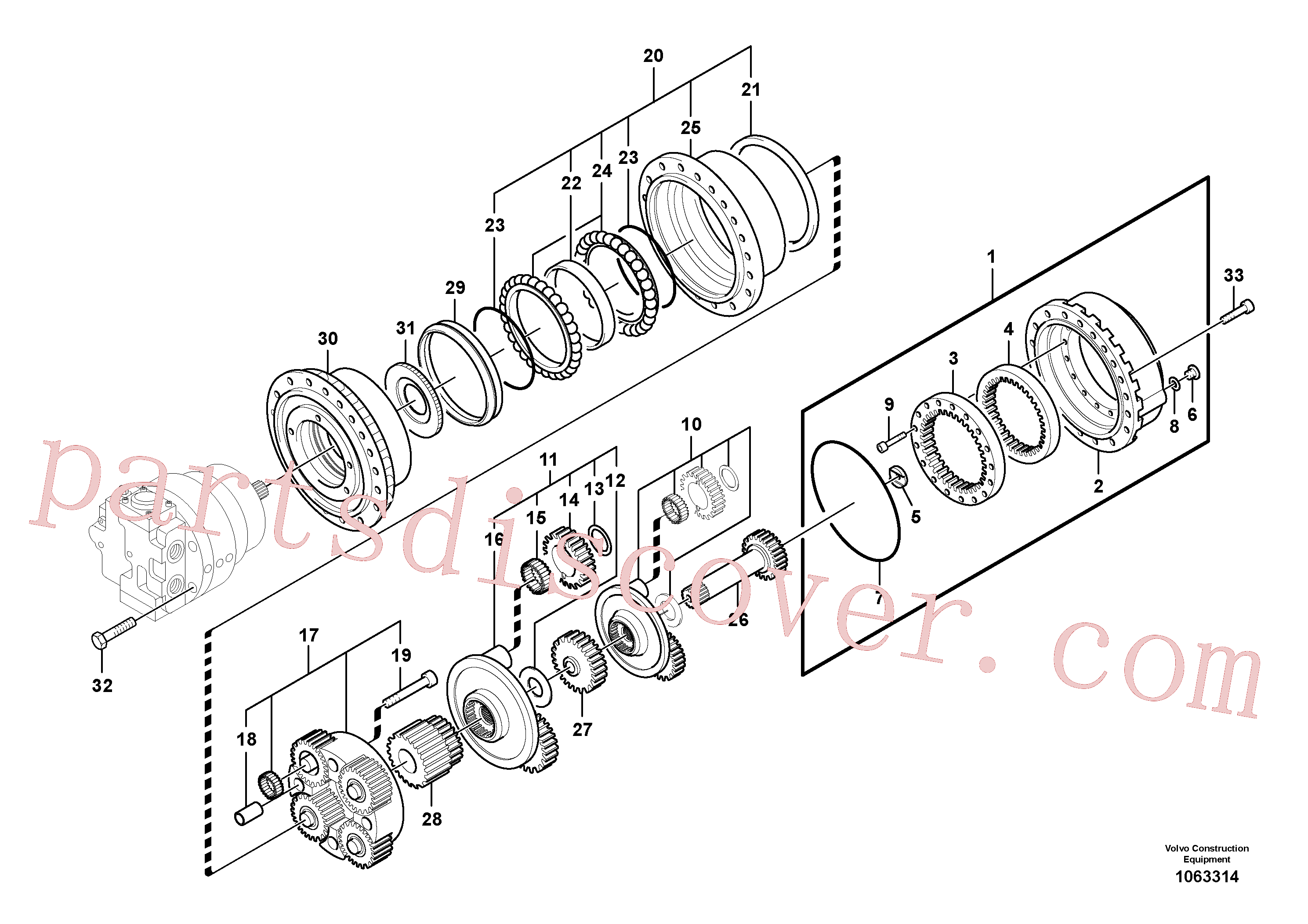 VOE14541740 for Volvo Travel gearbox(1063314 assembly)