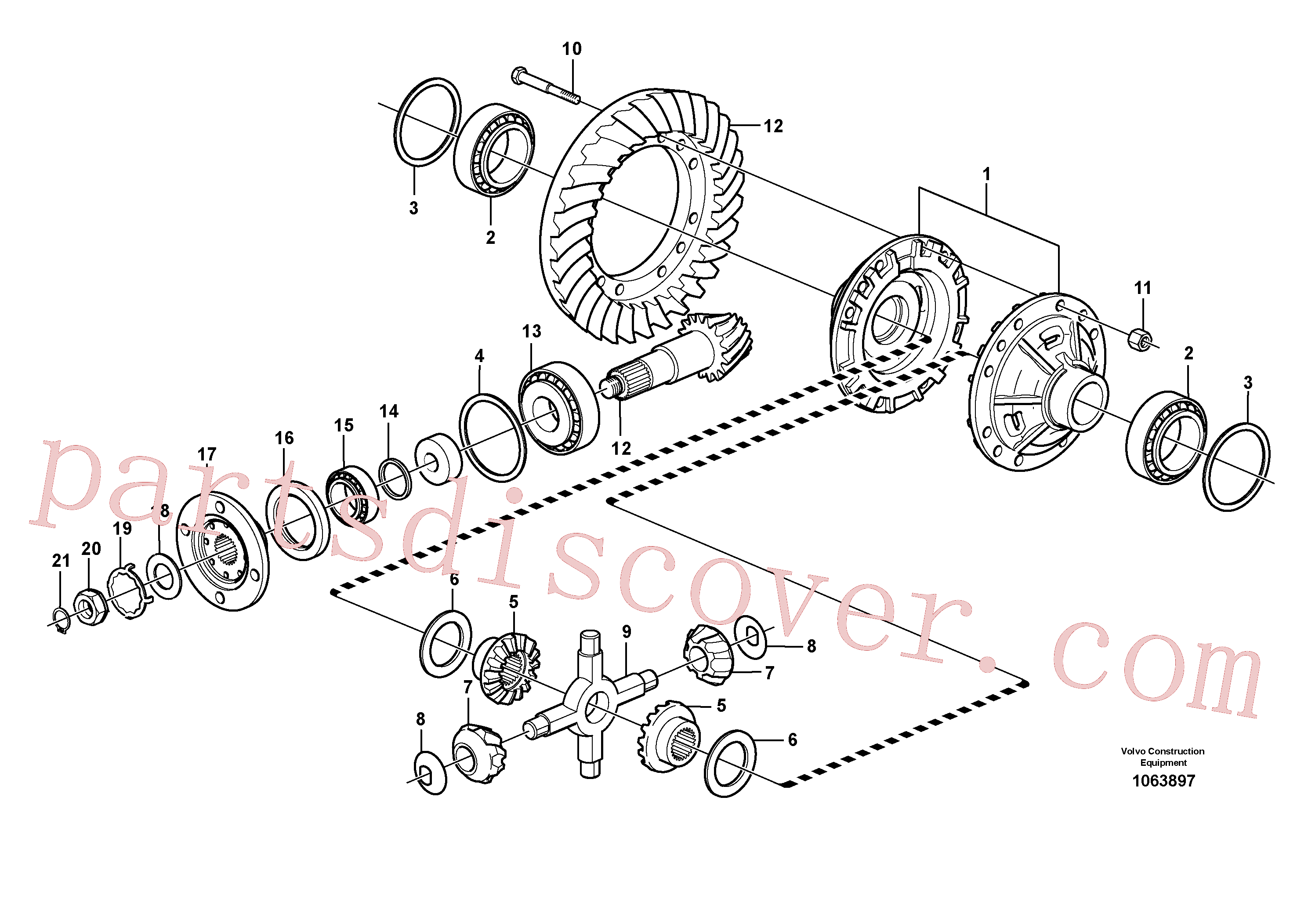 VOE11034321 for Volvo Final drive, rear(1063897 assembly)