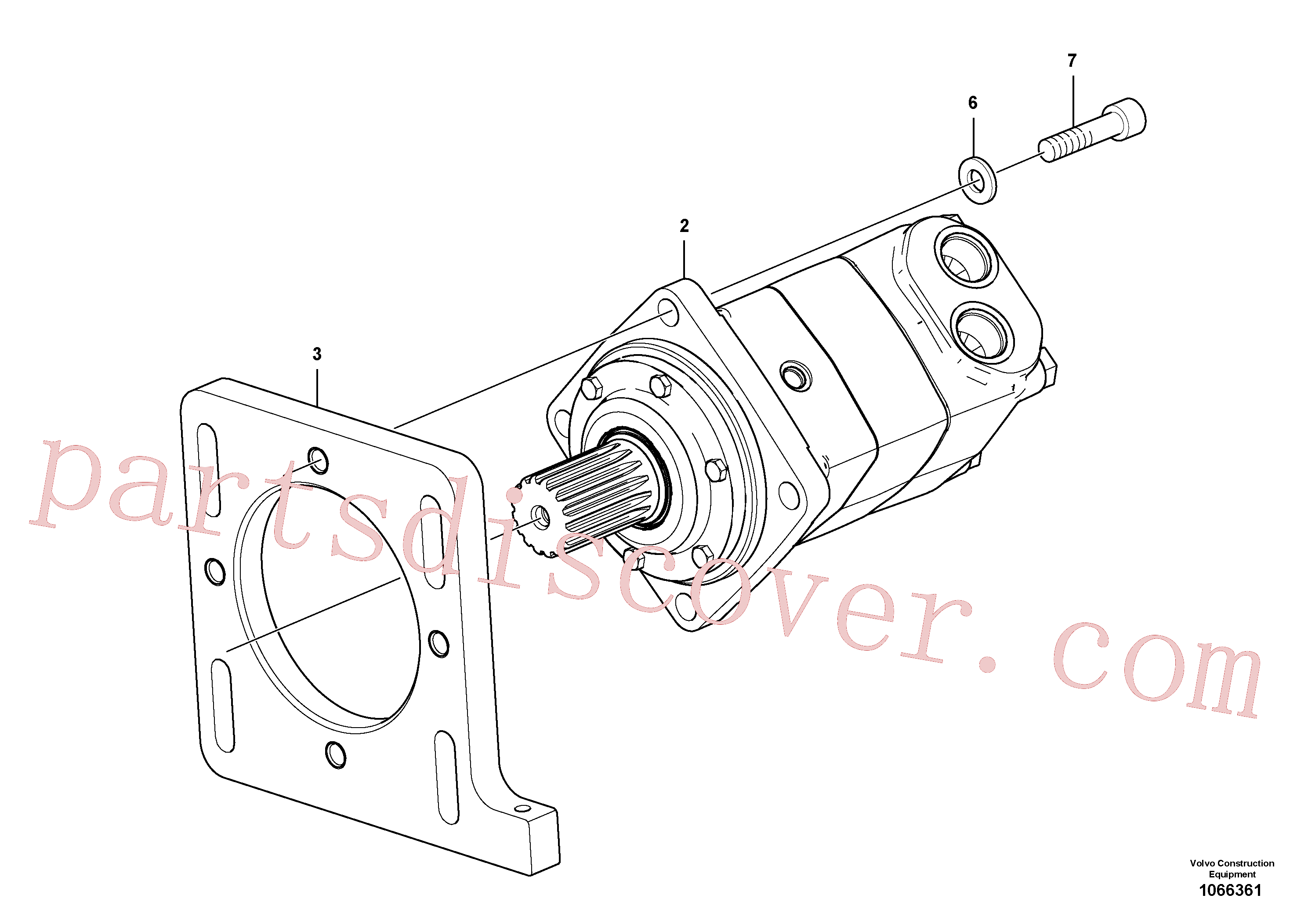 RM96738612 for Volvo Conveyor Motor Assembly(1066361 assembly)