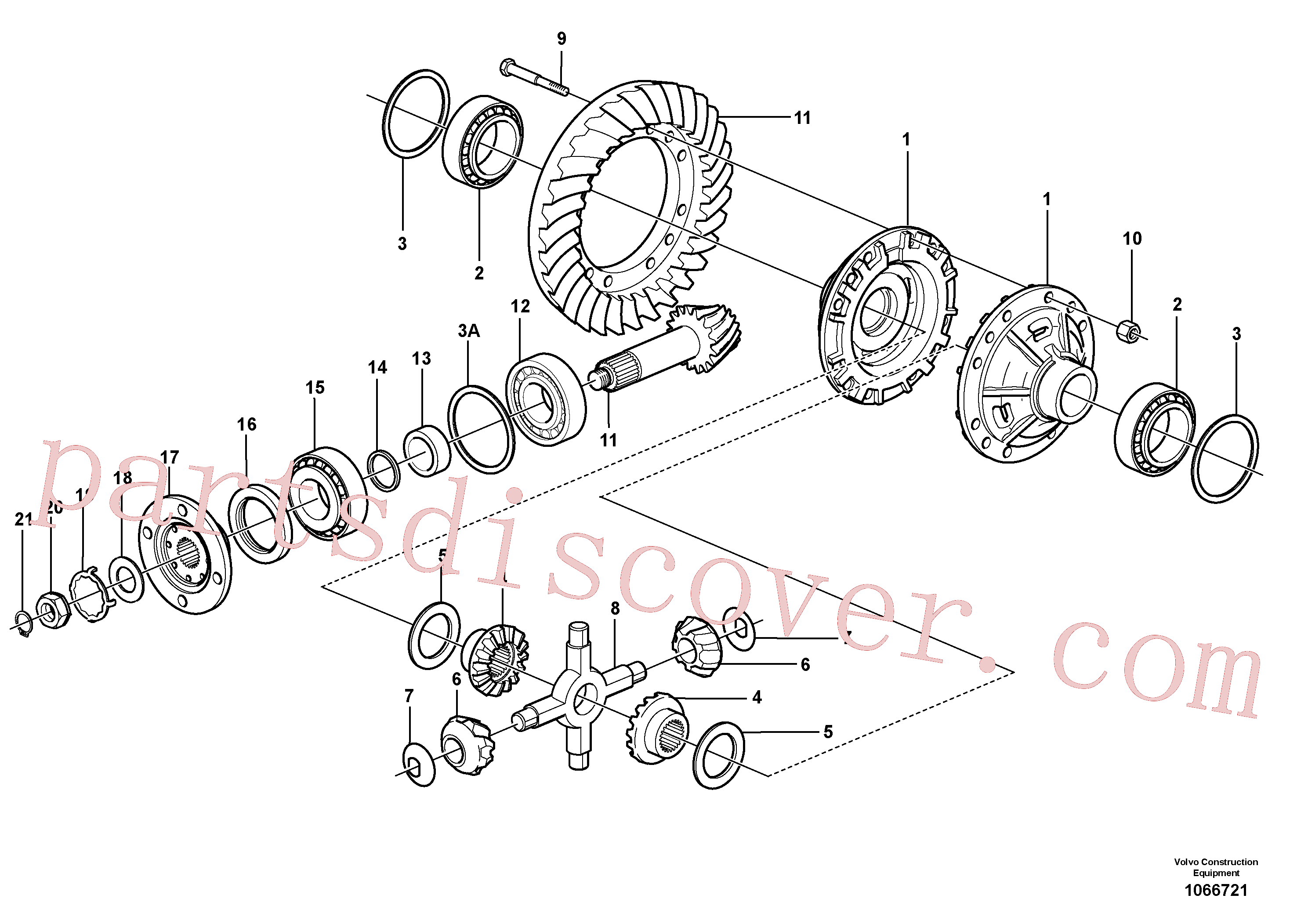 VOE11034830 for Volvo Final drive, rear(1066721 assembly)