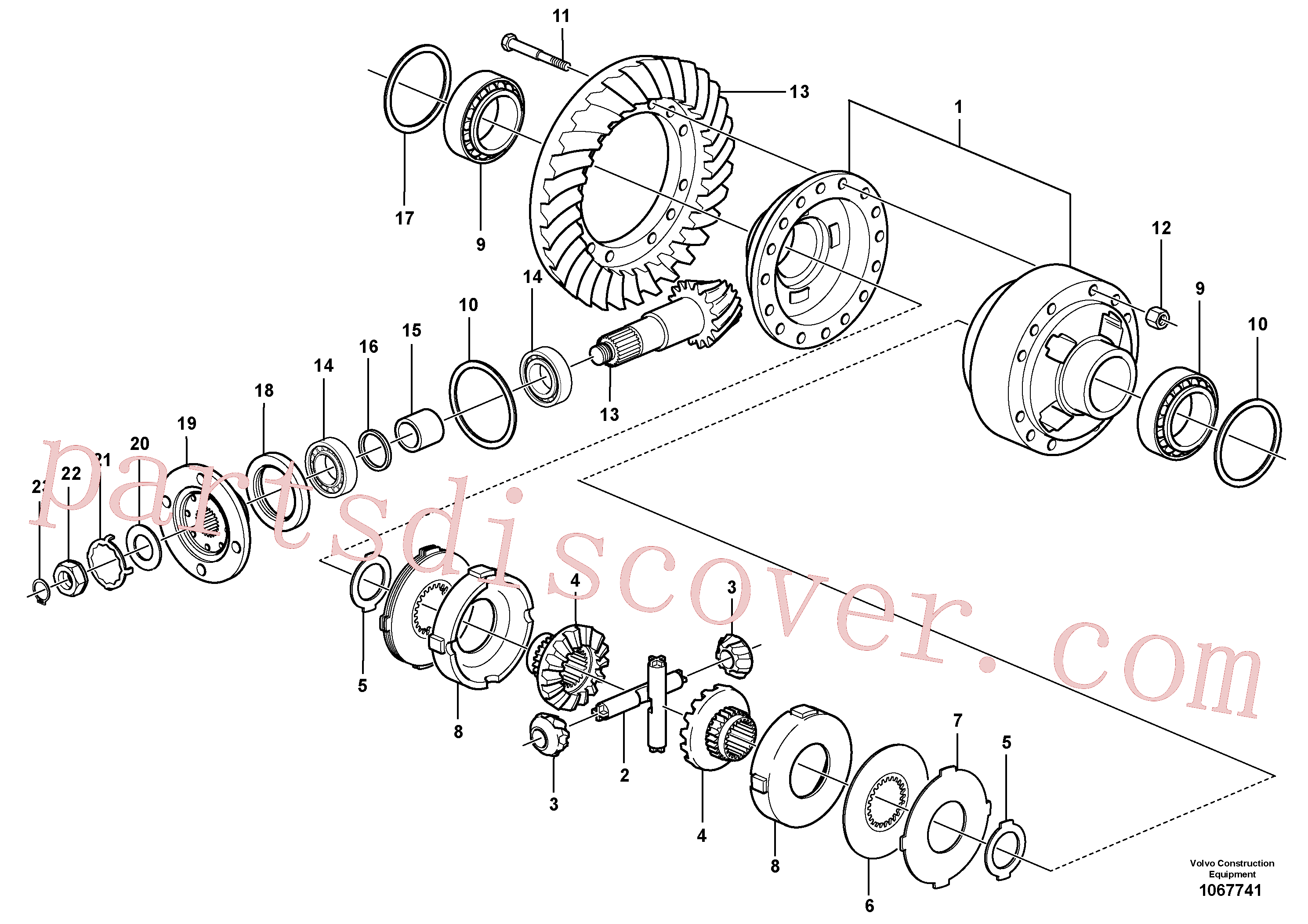 VOE11034321 for Volvo Final drive, rear(1067741 assembly)