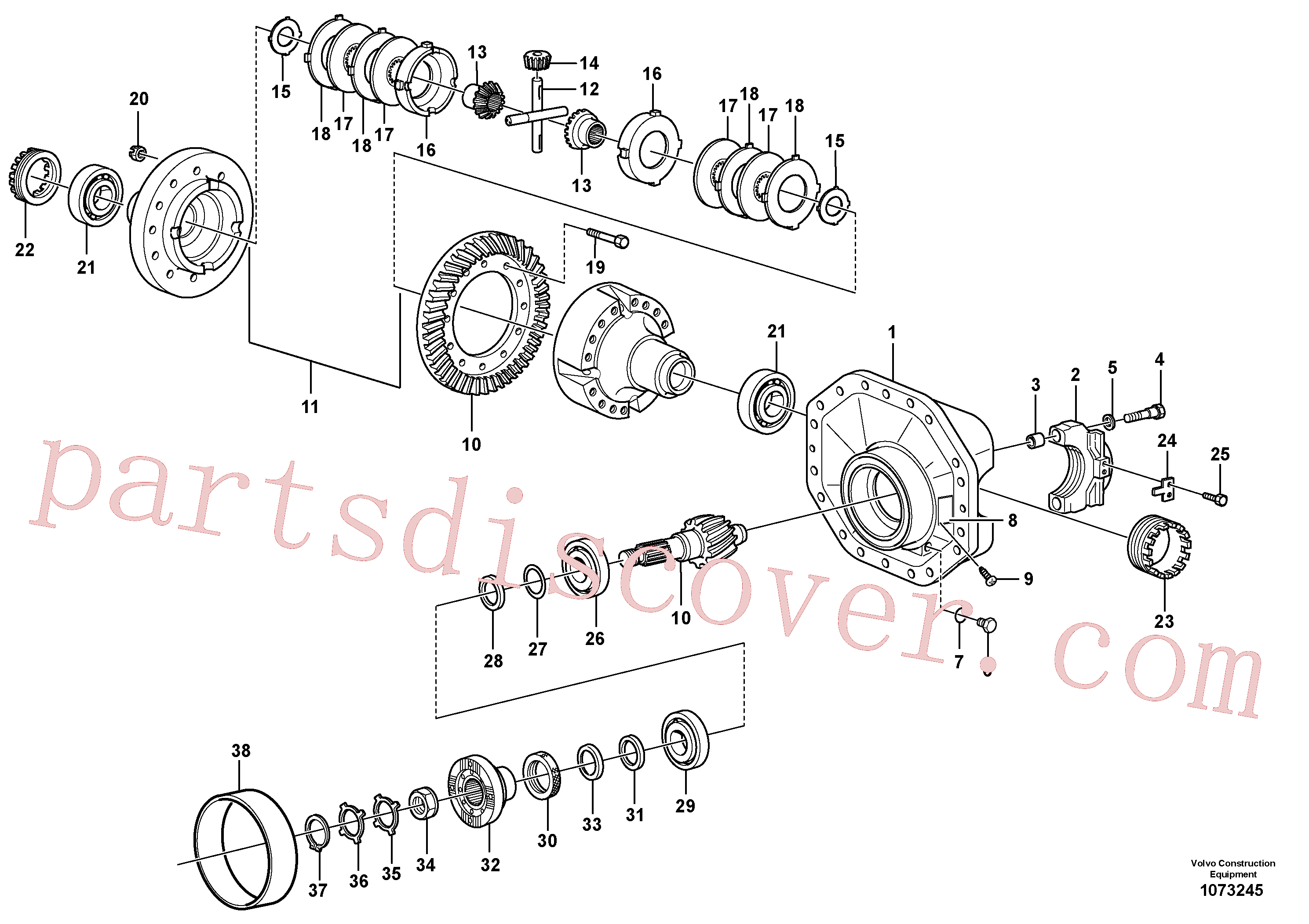 VOE11034830 for Volvo Final drive(1073245 assembly)