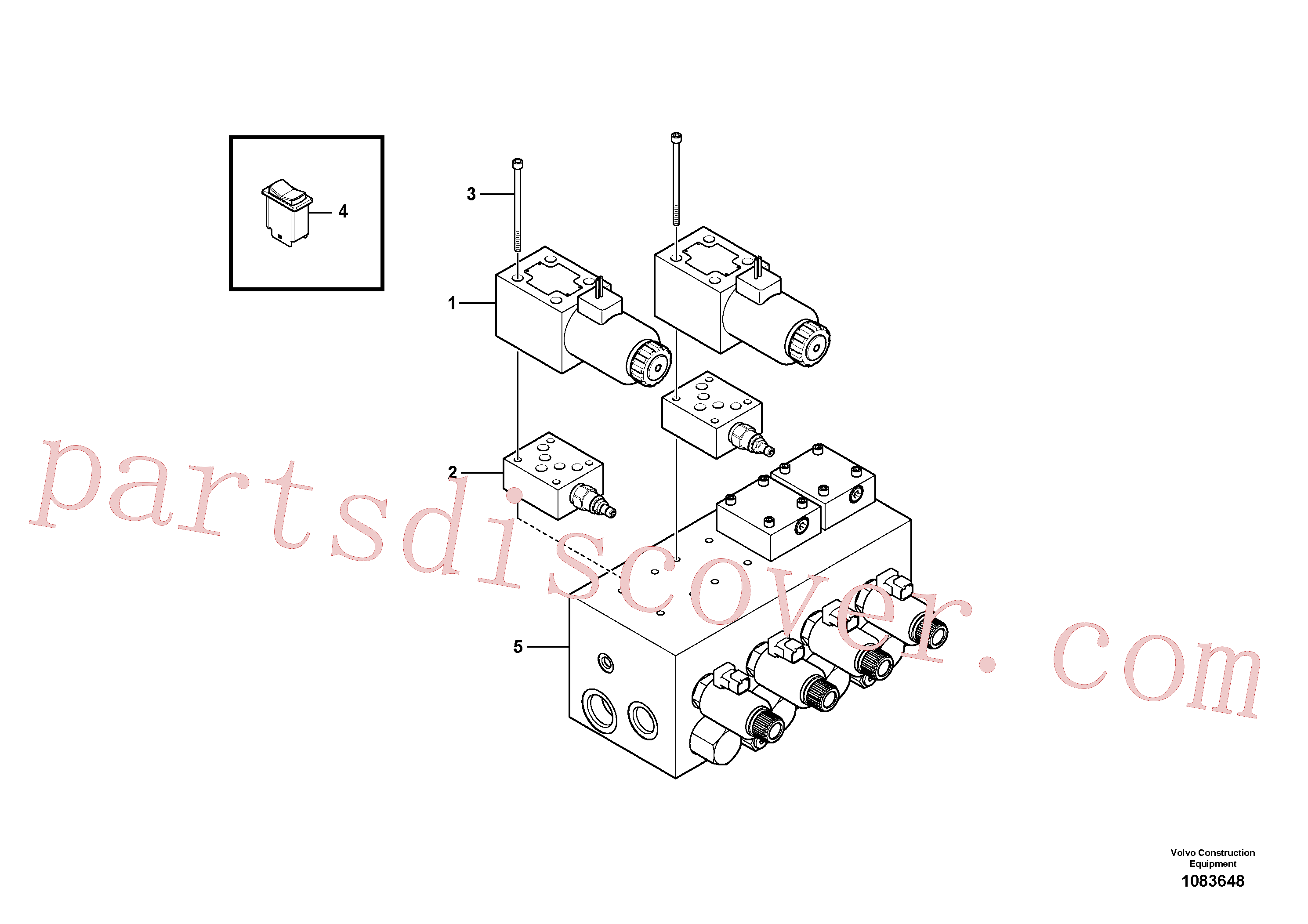 RM13495395 for Volvo Conveyor Reverse Installation(1083648 assembly)