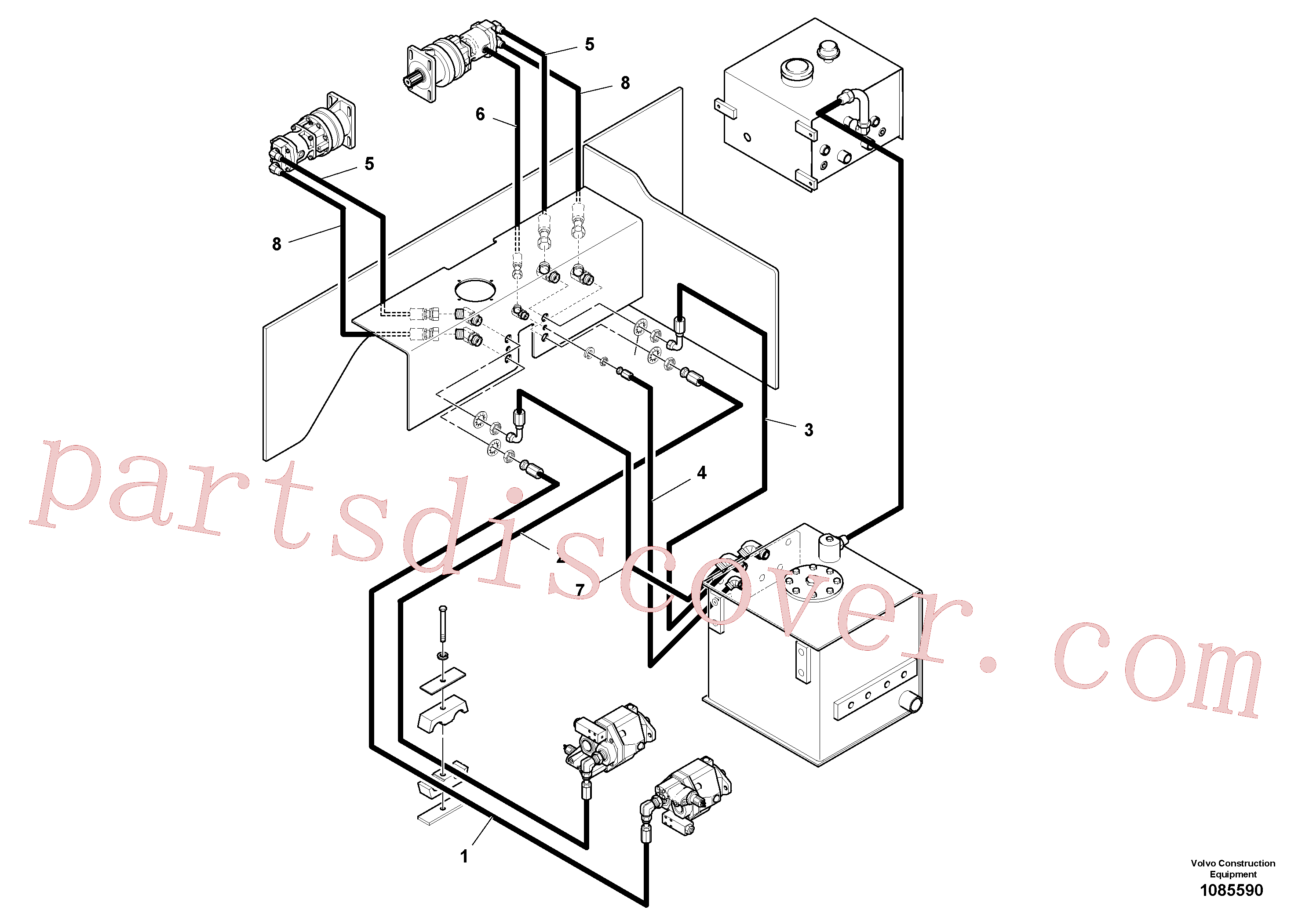 RM20333035 for Volvo Auger/conveyor Drive Hydraulic System(1085590 assembly)