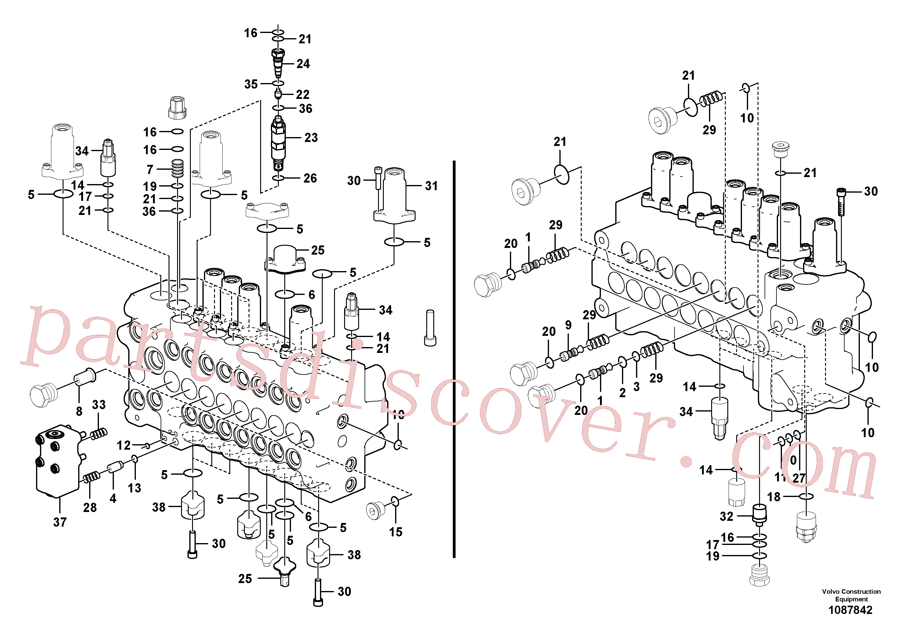 VOE14526977 for Volvo Main control valve(1087842 assembly)