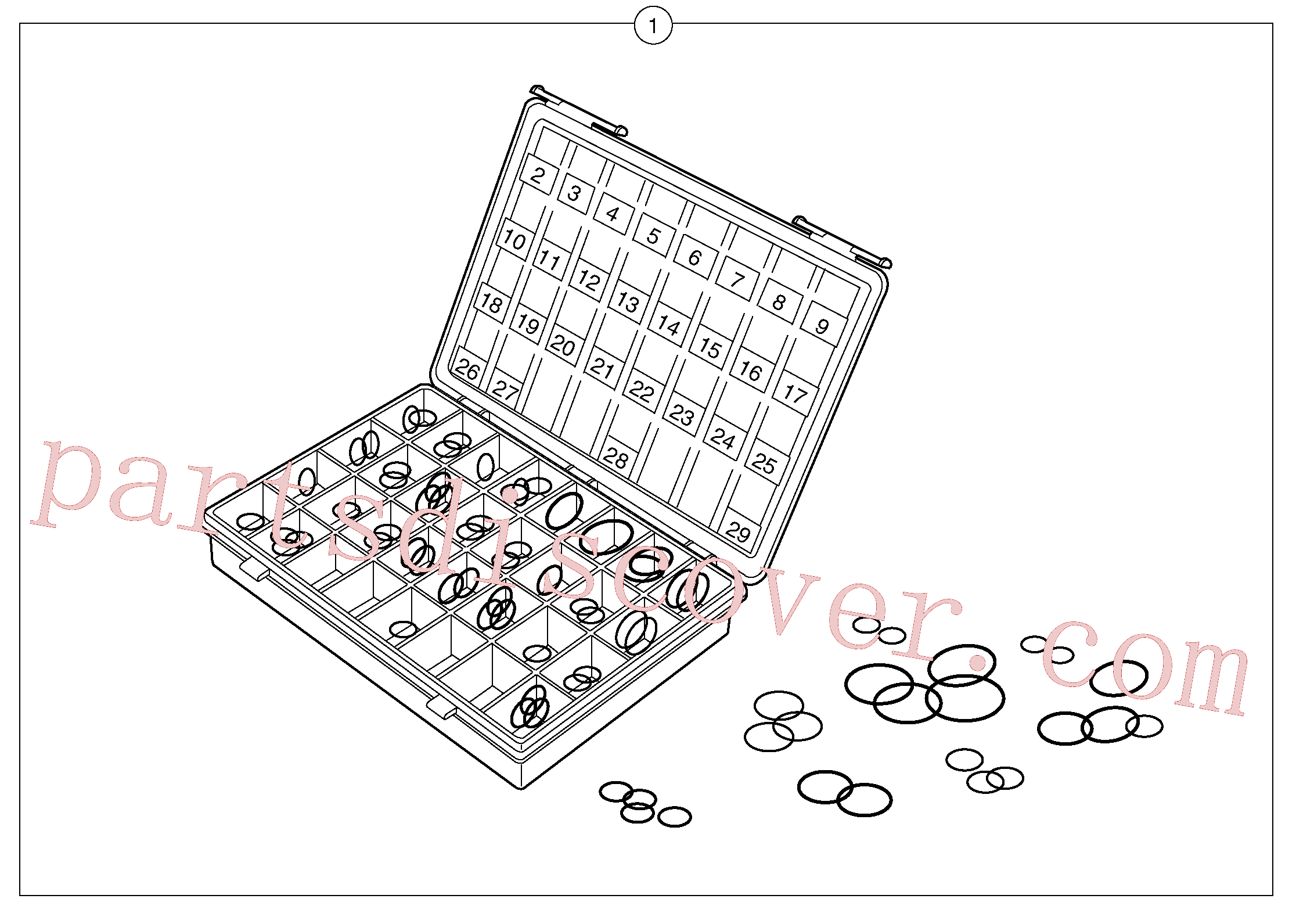 PJ5960144 for Volvo Seals suitcase for union , elbow , fitting ...(110Y1 assembly)