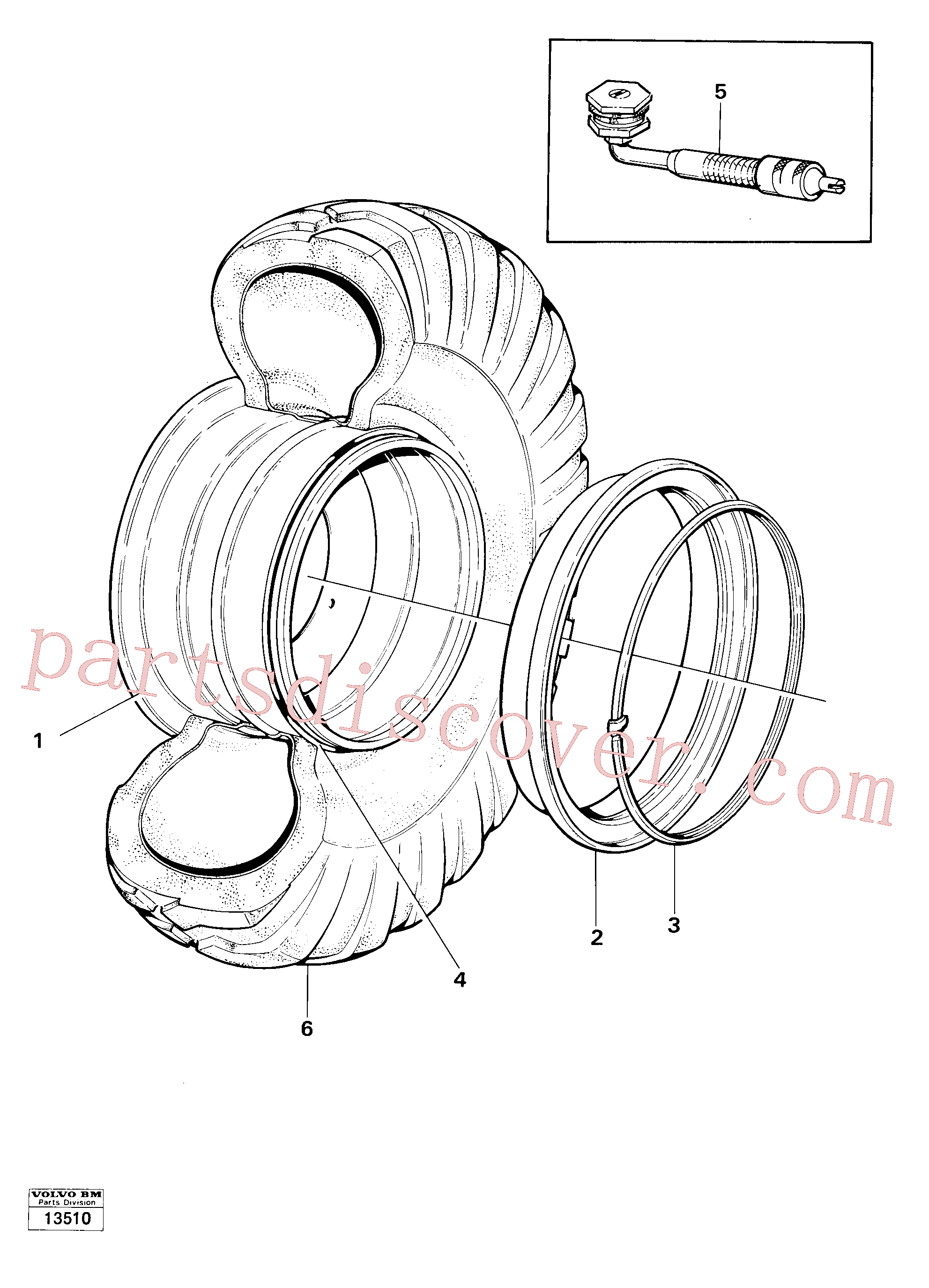 VOE4789781 for Volvo Wheel, Wheels(13510 assembly)