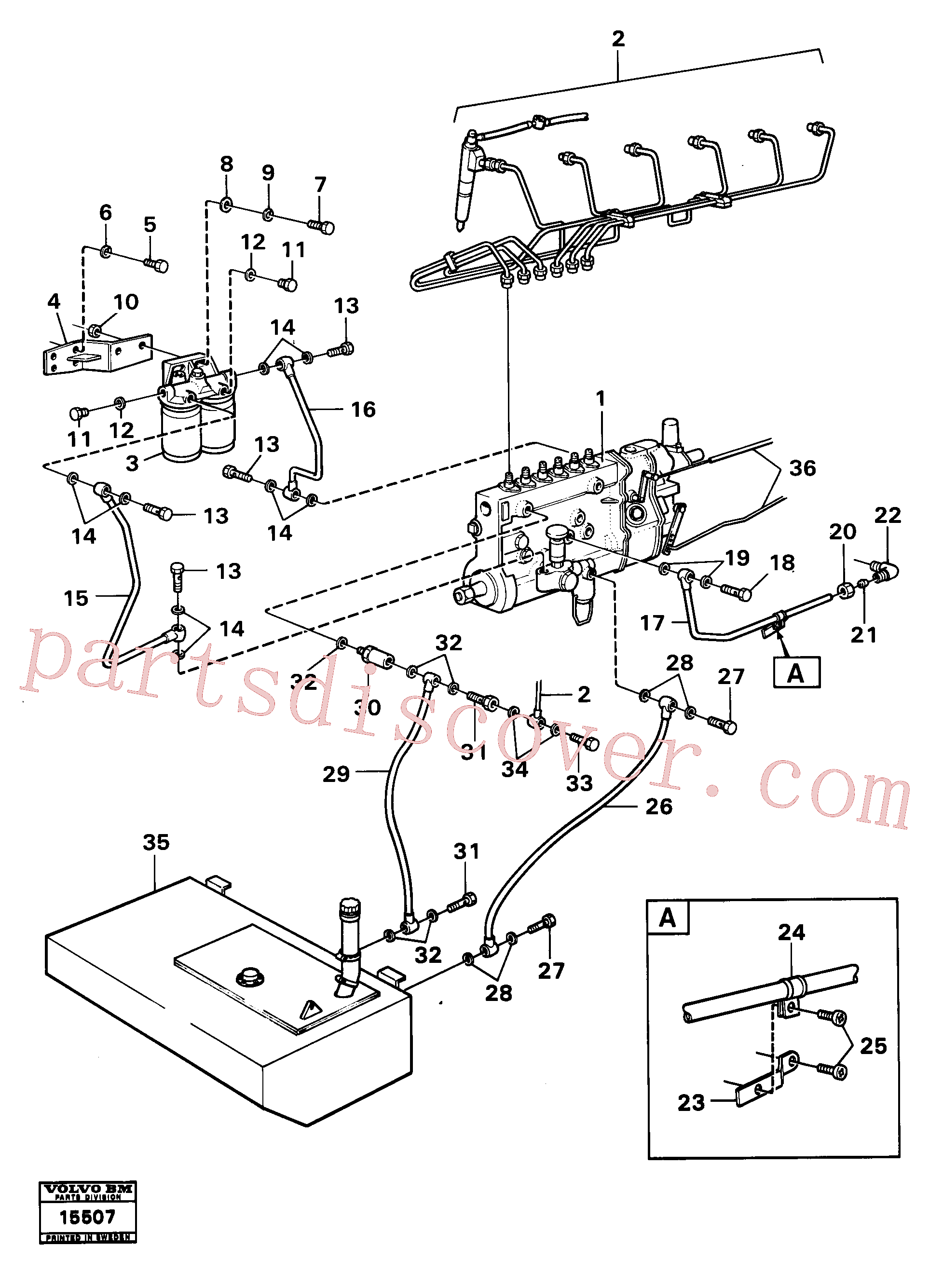 VOE13955827 for Volvo Fuel system(15507 assembly)