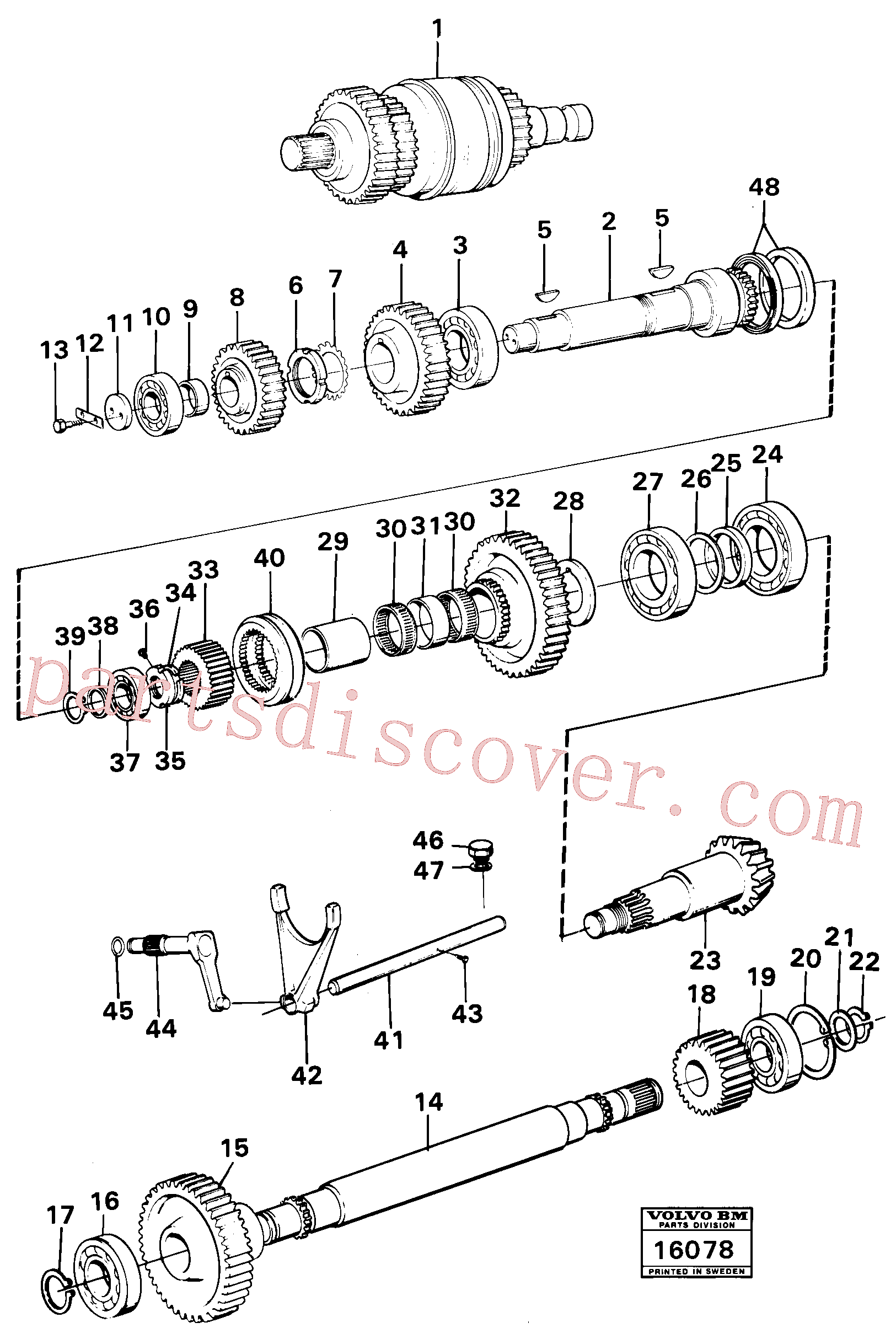VOE7018494 for Volvo Clutches,gears and shafts(16078 assembly)