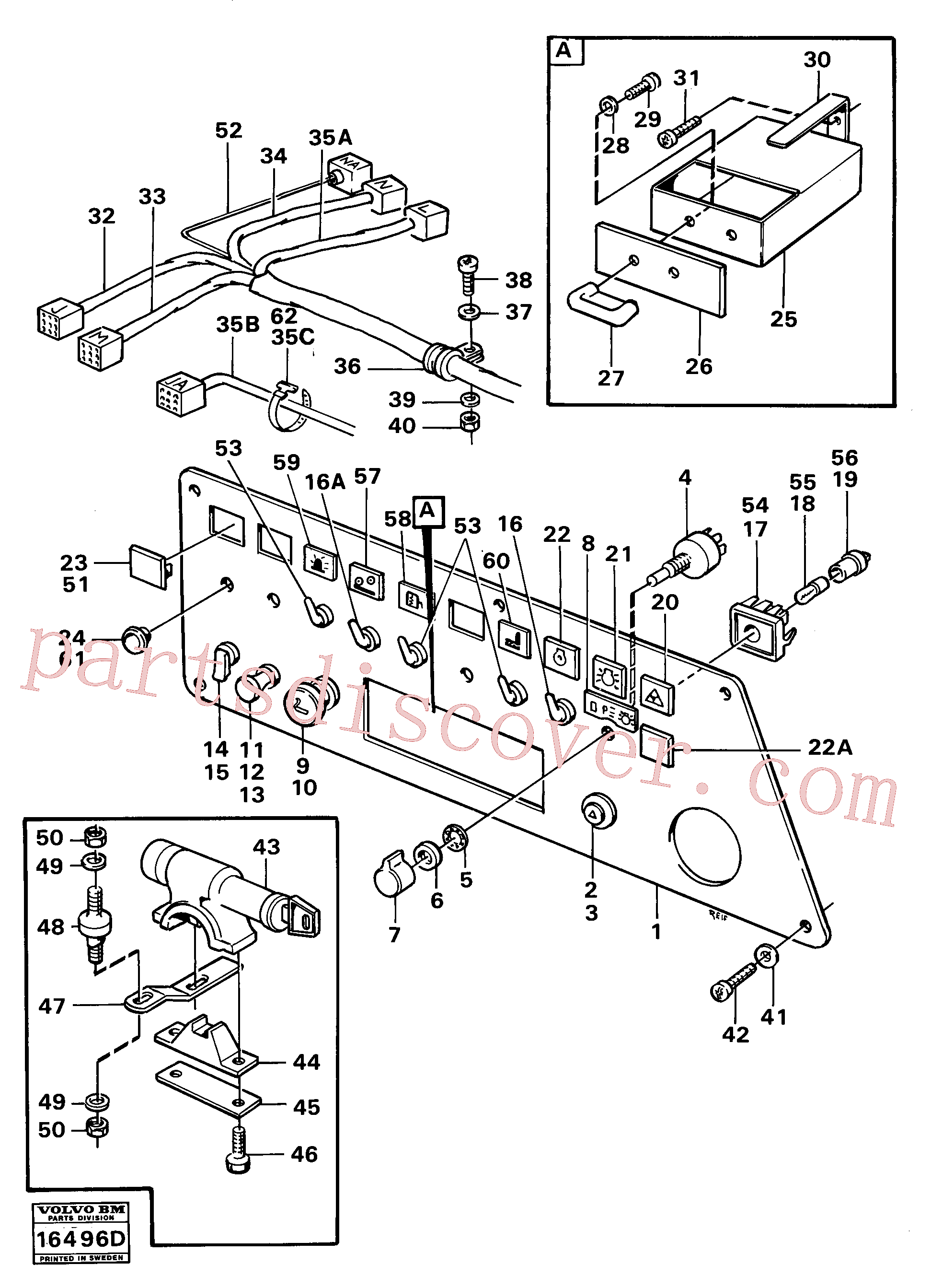 VOE4787694 for Volvo Instrumentpanel right(16496D assembly)