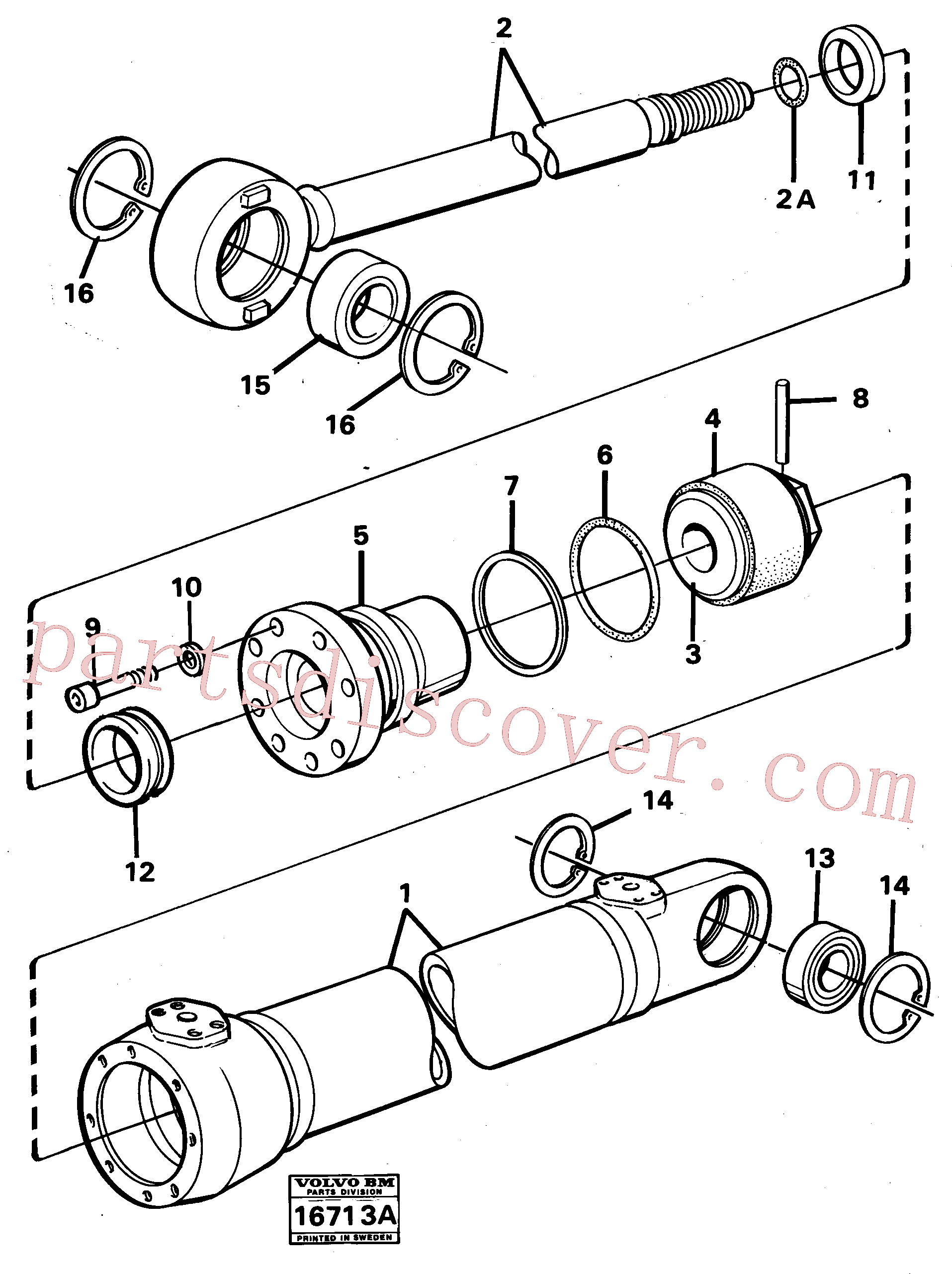 VOE4784134 for Volvo Hydraulic cylinder(16713A assembly)