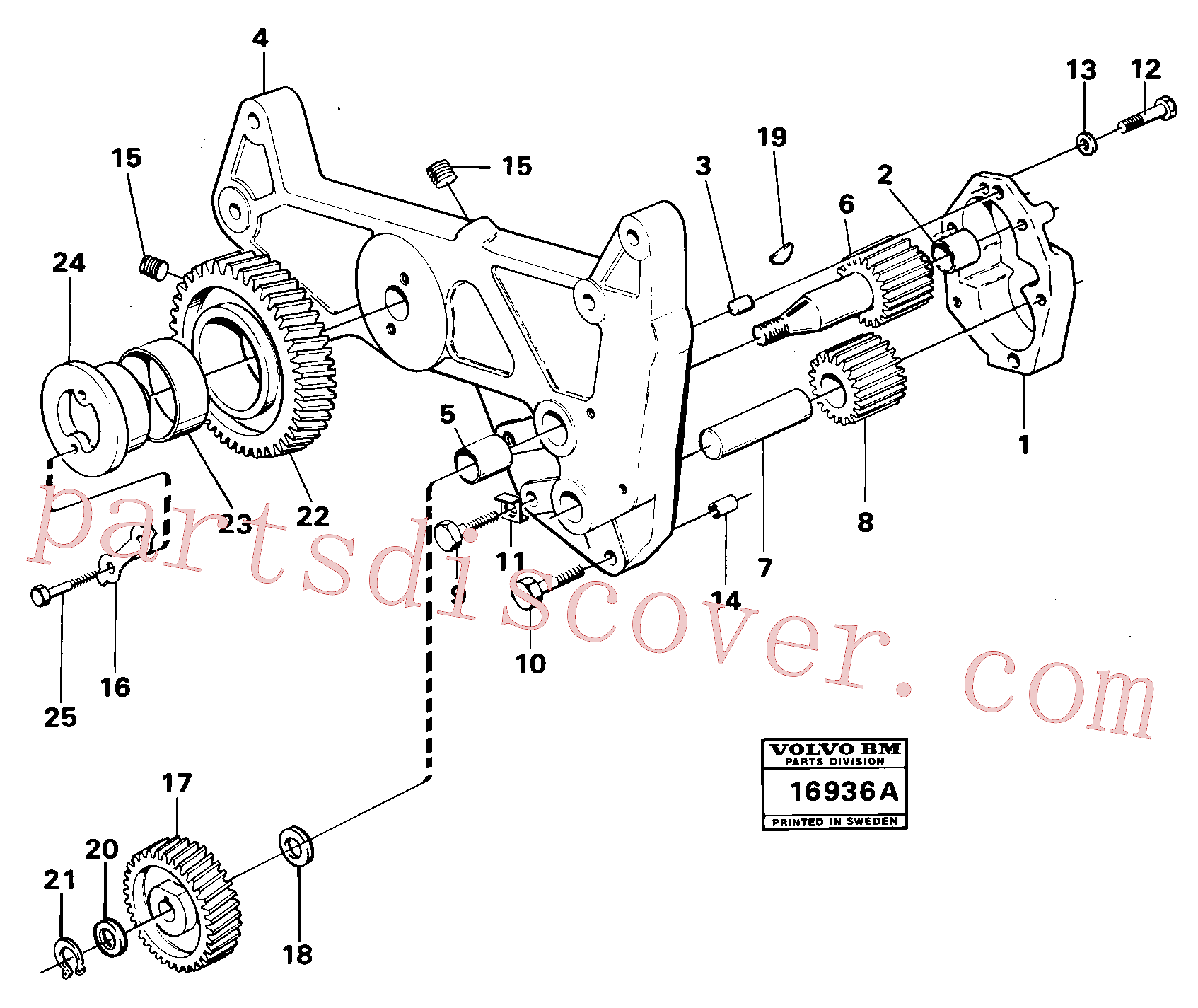 VOE914450 for Volvo Oil pump, Lubricating oil pump mo 53300-(16936A assembly)