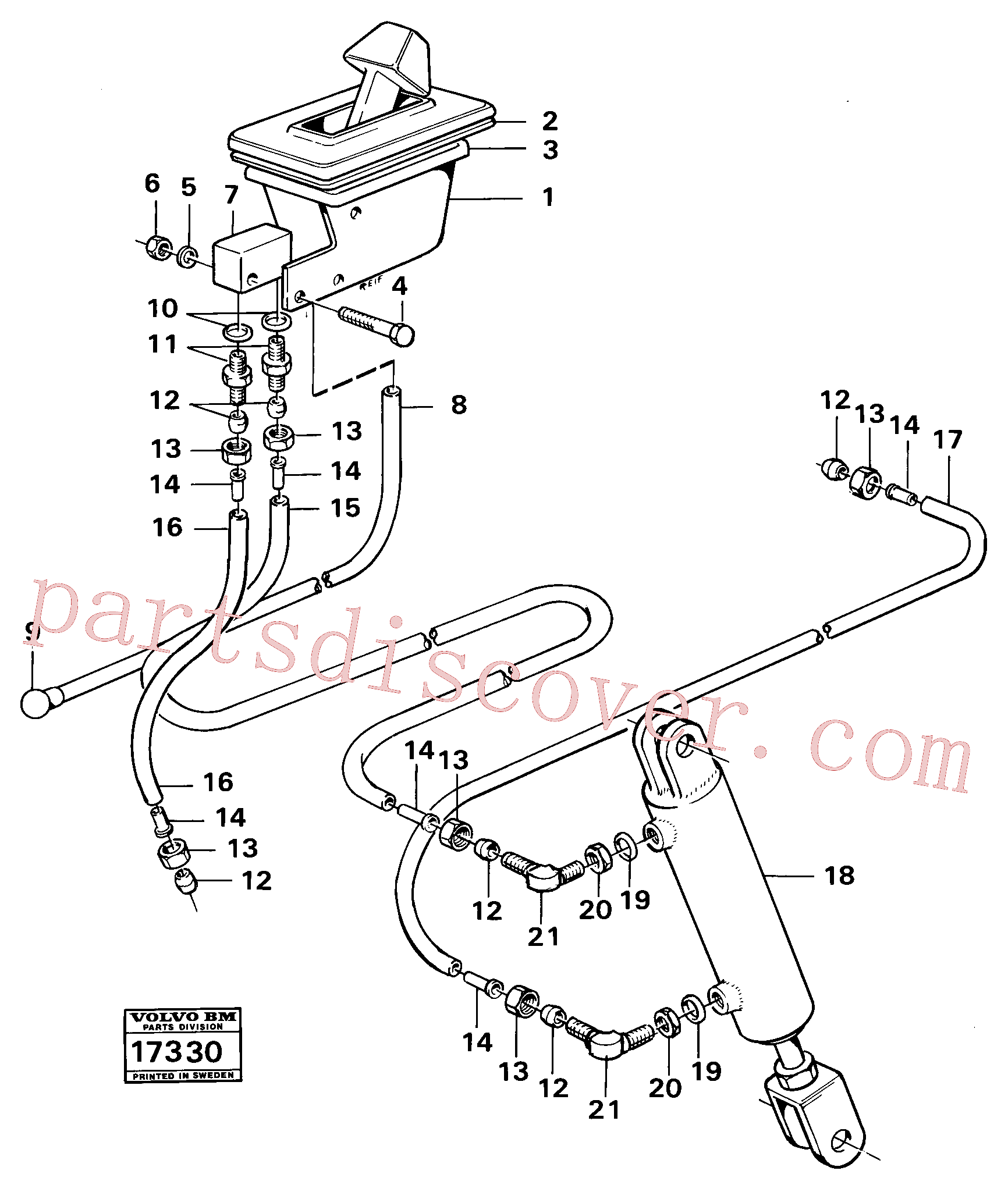 VOE13945915 for Volvo Control for high and low gear Tillv Nr 1800 -(17330 assembly)
