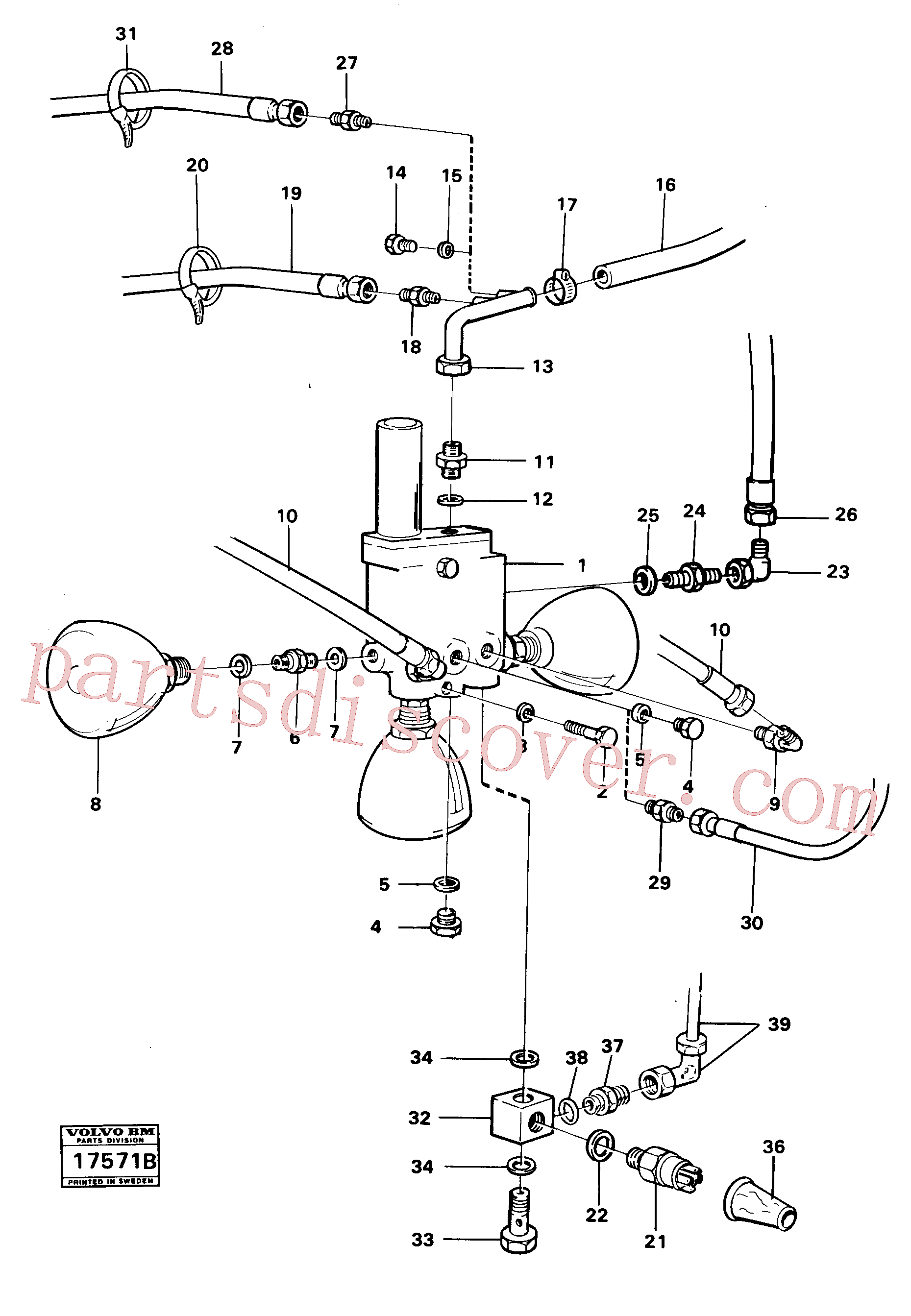 VOE948883 for Volvo Valve with fitting parts(17571B assembly)