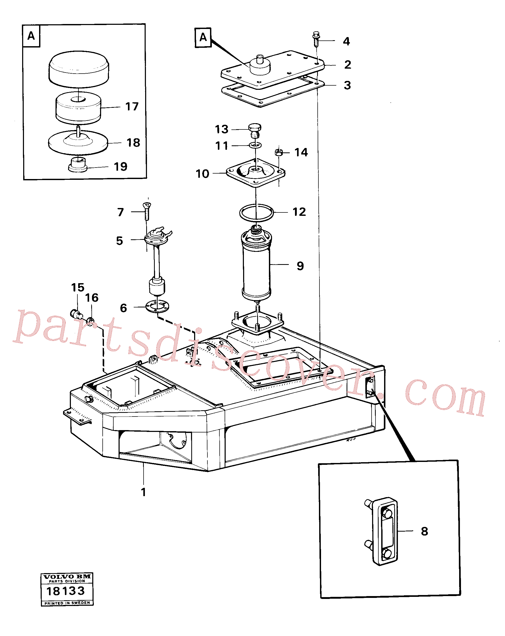 VOE958229 for Volvo Hydraulic tank(18133 assembly)