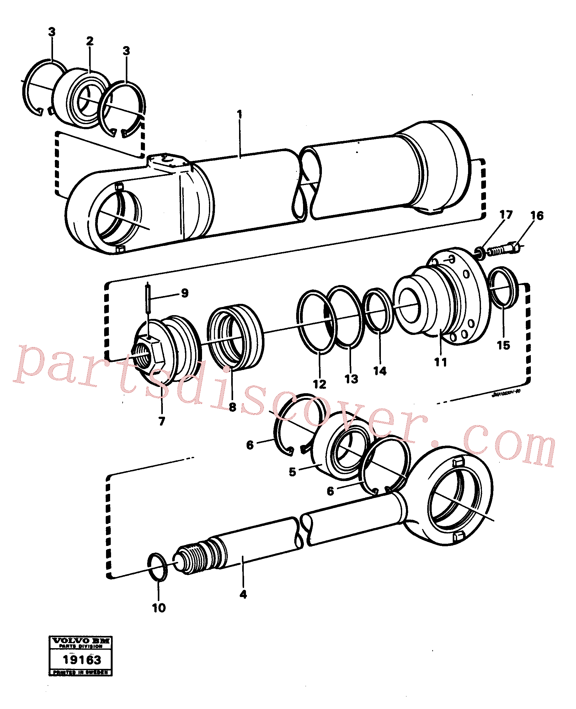 ZM2163560 for Volvo Hydraulic cylinder lifting(19163 assembly)