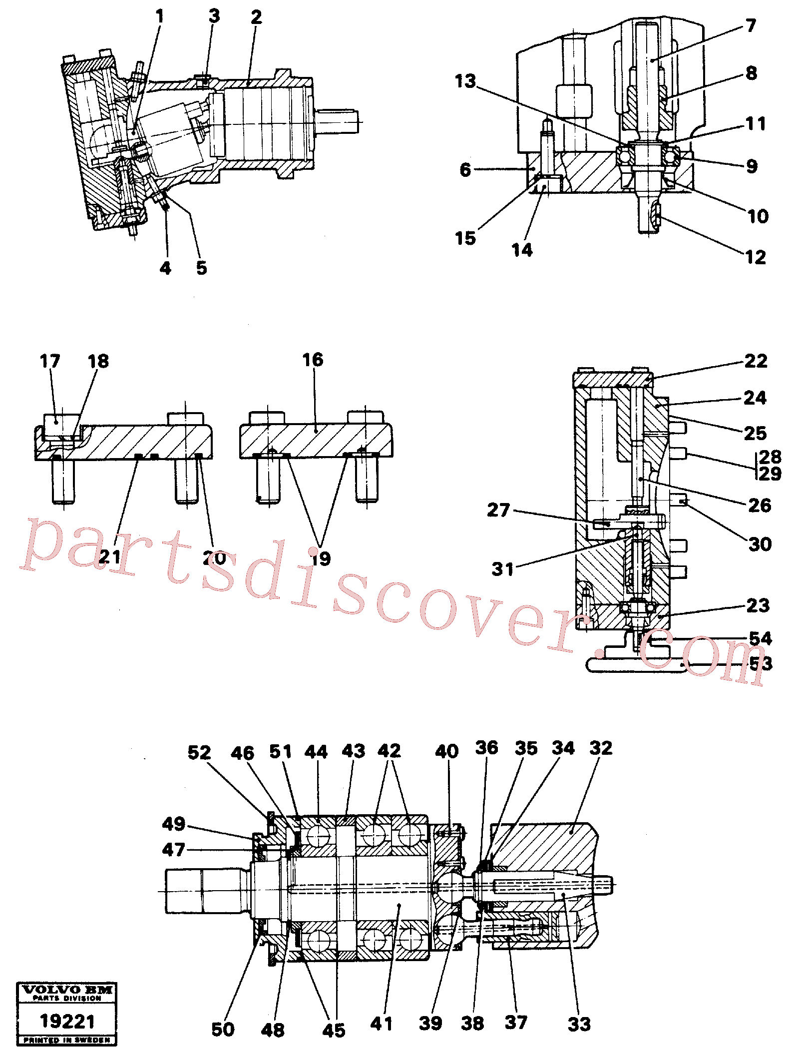 VOE12743086 for Volvo Hydraulic pump(19221 assembly)