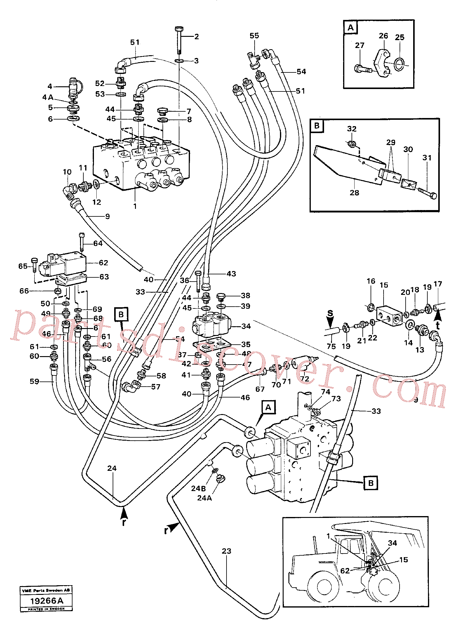 SA9512-02120 for Volvo Hydraulic system.(19266A assembly)
