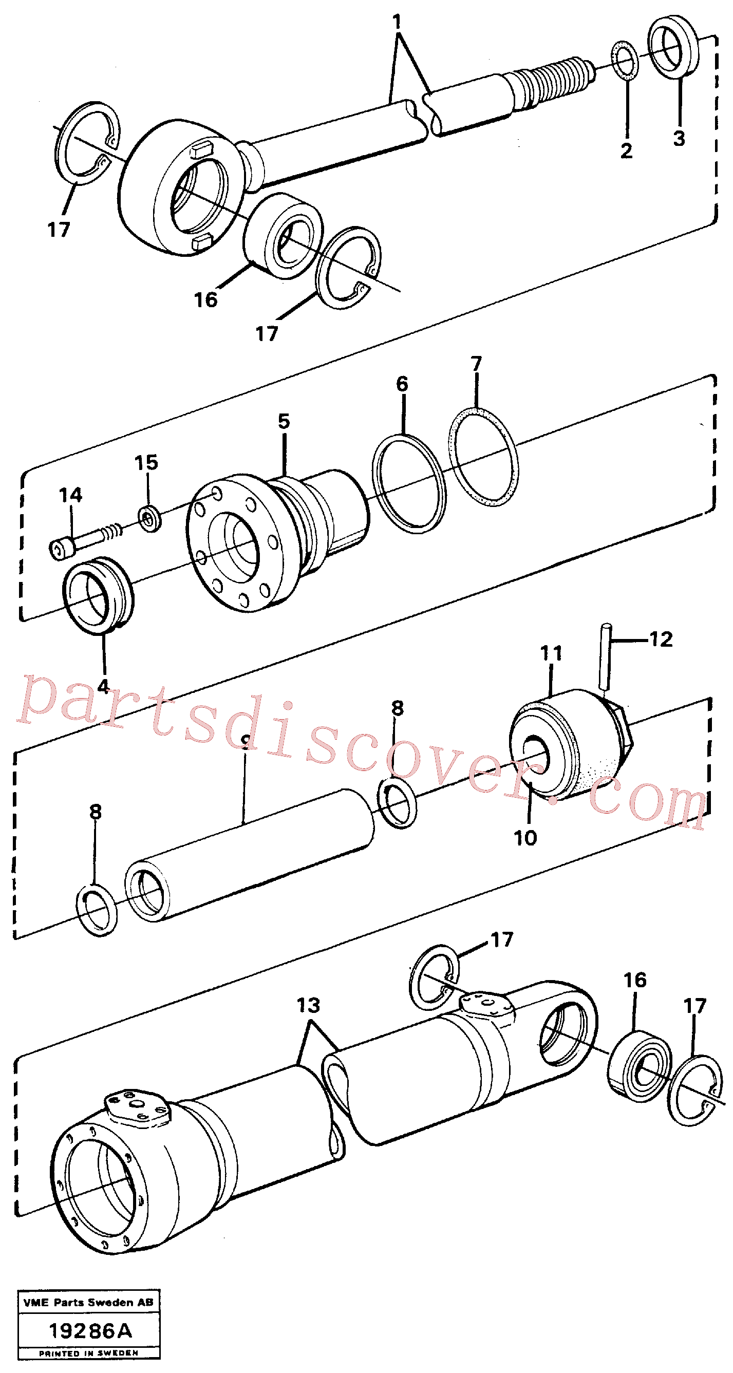 VOE4782491 for Volvo Hydraulic cylinder(19286A assembly)